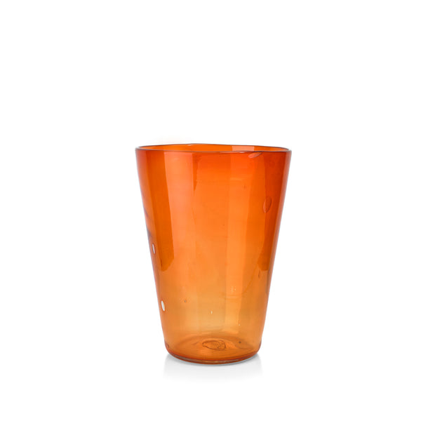 Handblown Glass Vase in Orange