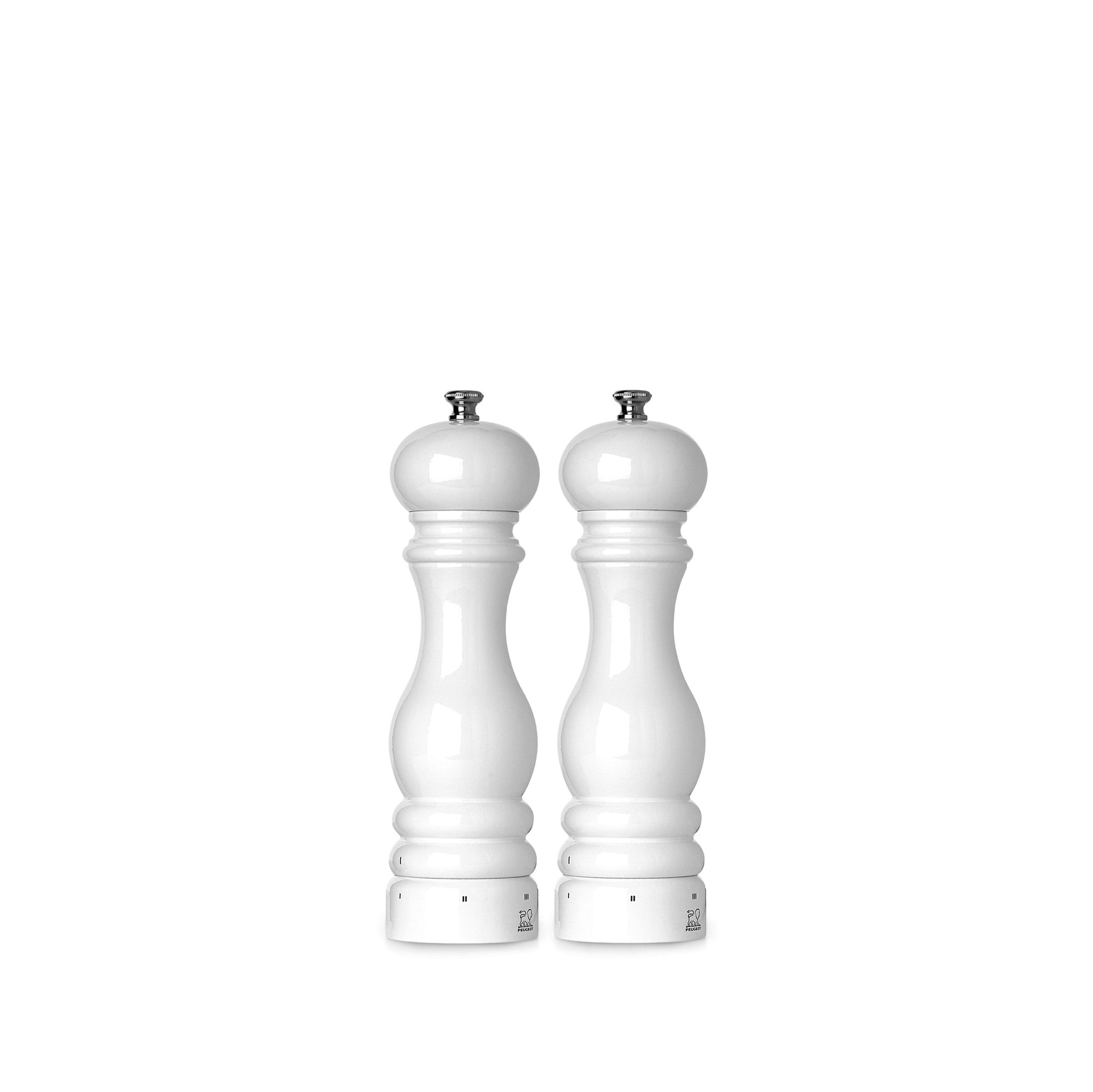 Peugeot Paris White Lacquered Pepper Mill, 18cm