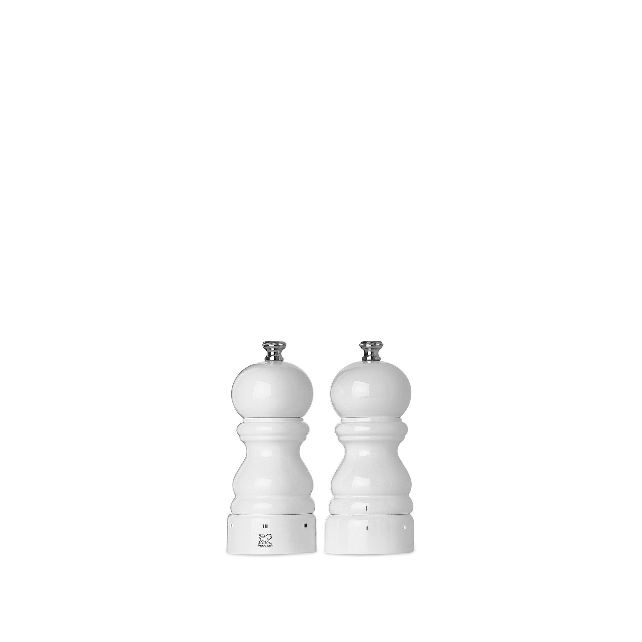 Peugeot Paris White Lacquered Salt & Pepper Mill Set, 12cm
