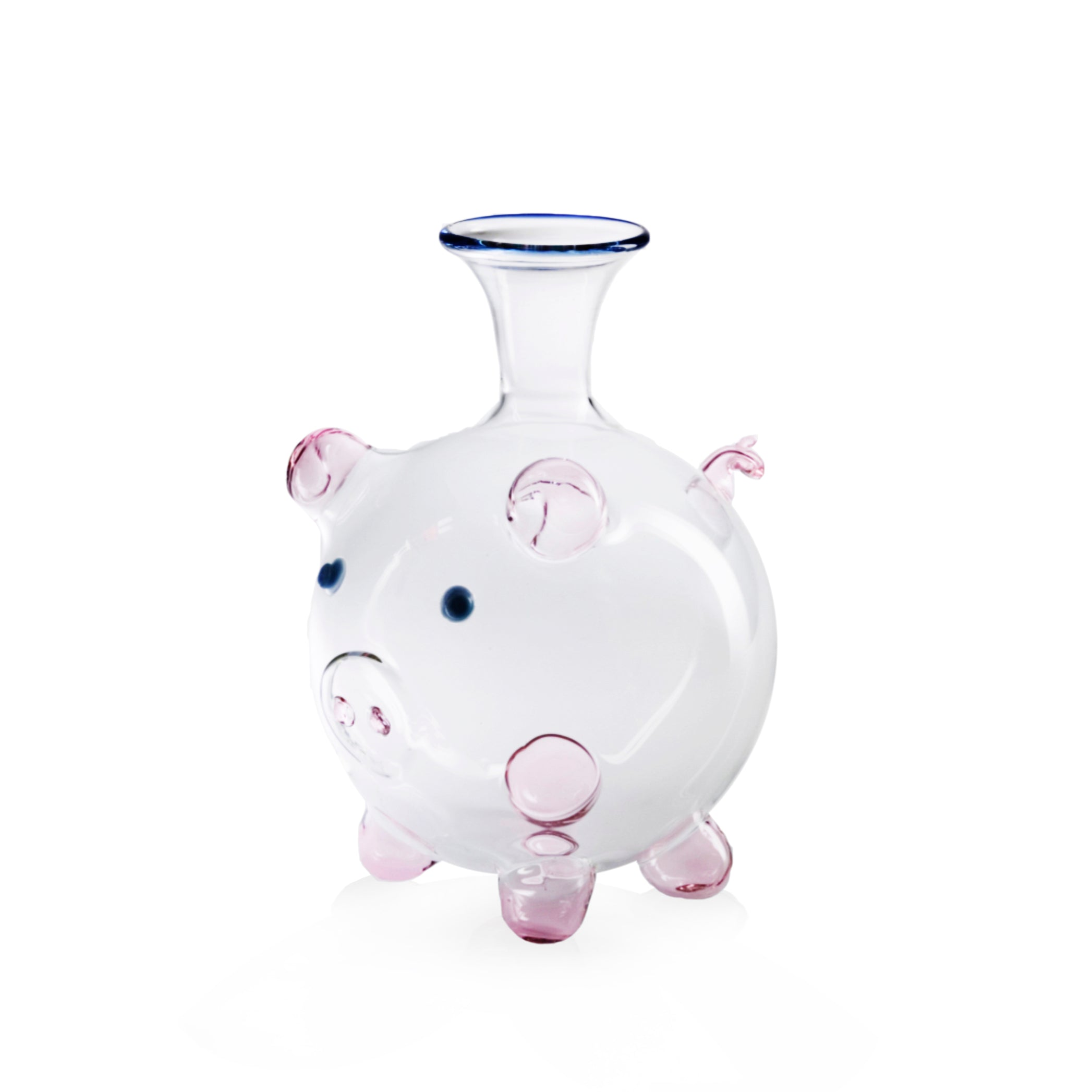 MADE TO ORDER - Handblown Glass Pig Decanter