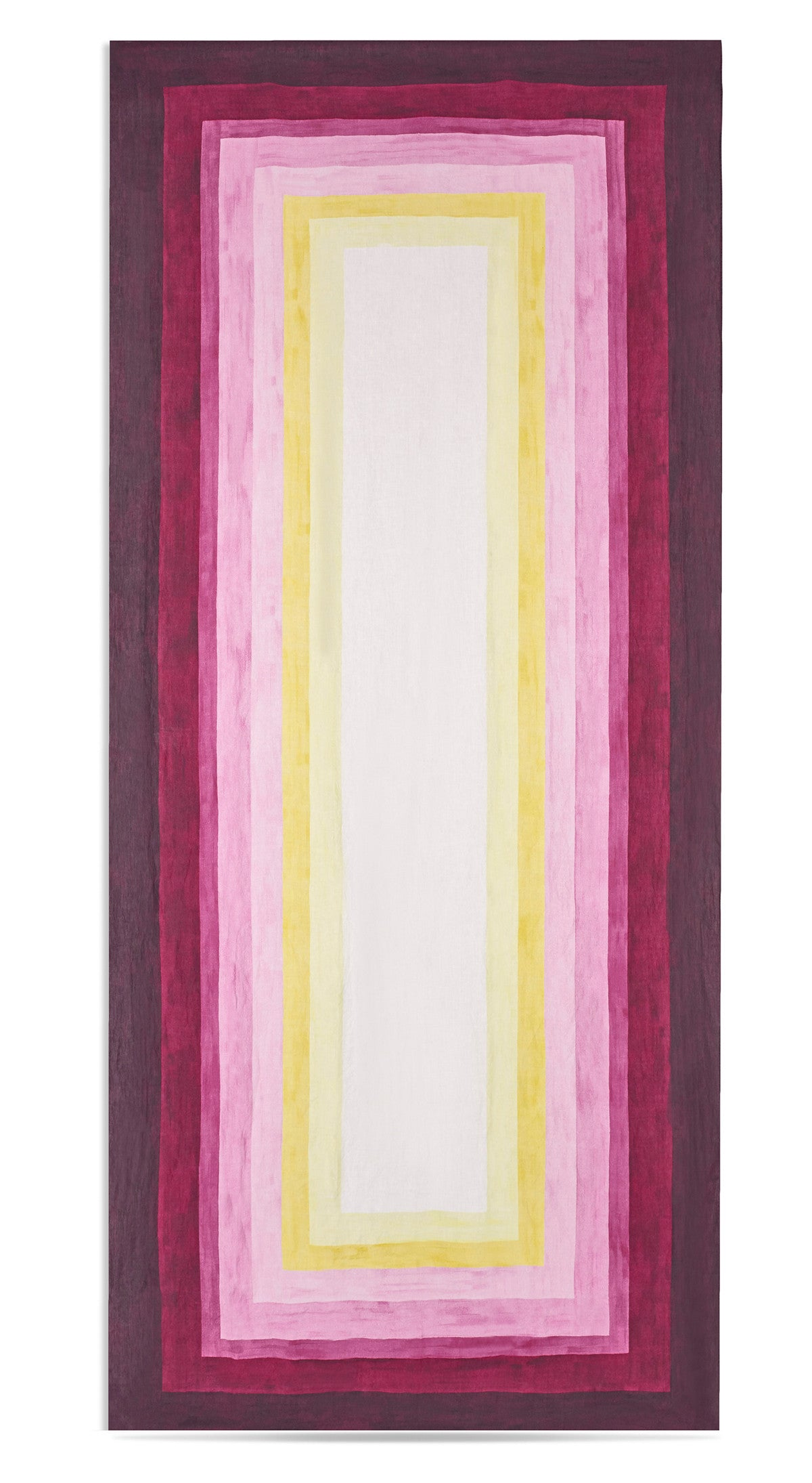 Shades Of Pink Striped Linen Tablecloth