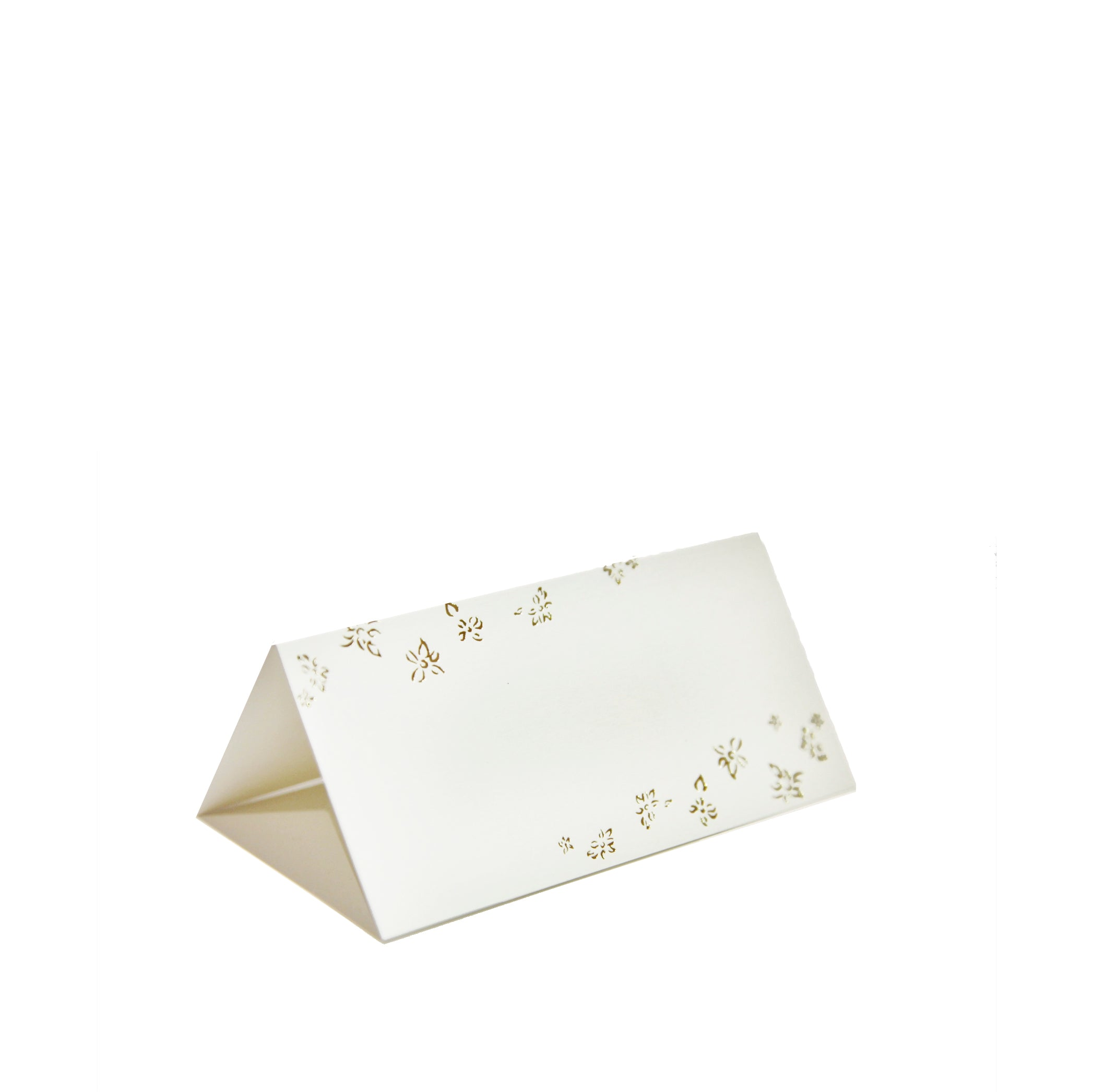 S&B Gold Foiled Falling Flower Placecards, Packet of 12