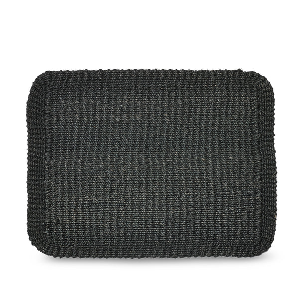 Abaca Woven Rectangular Placemat in Black