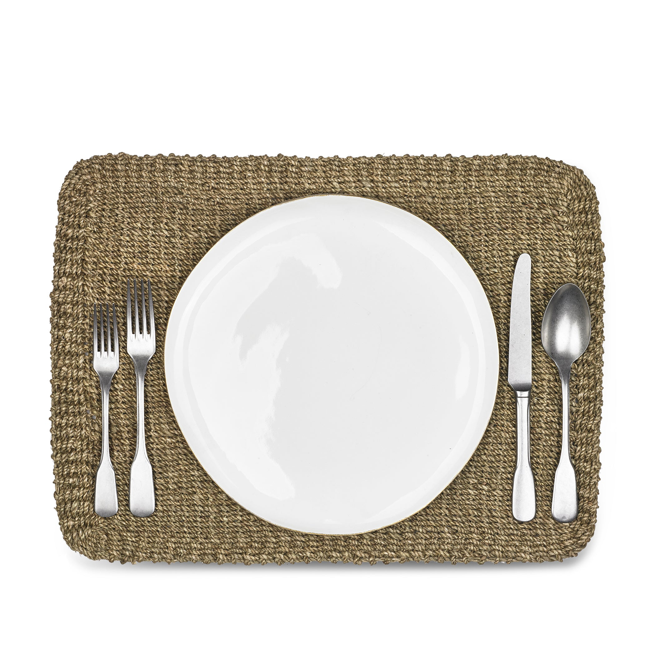 Abaca Woven Rectangular Placemat in Sage