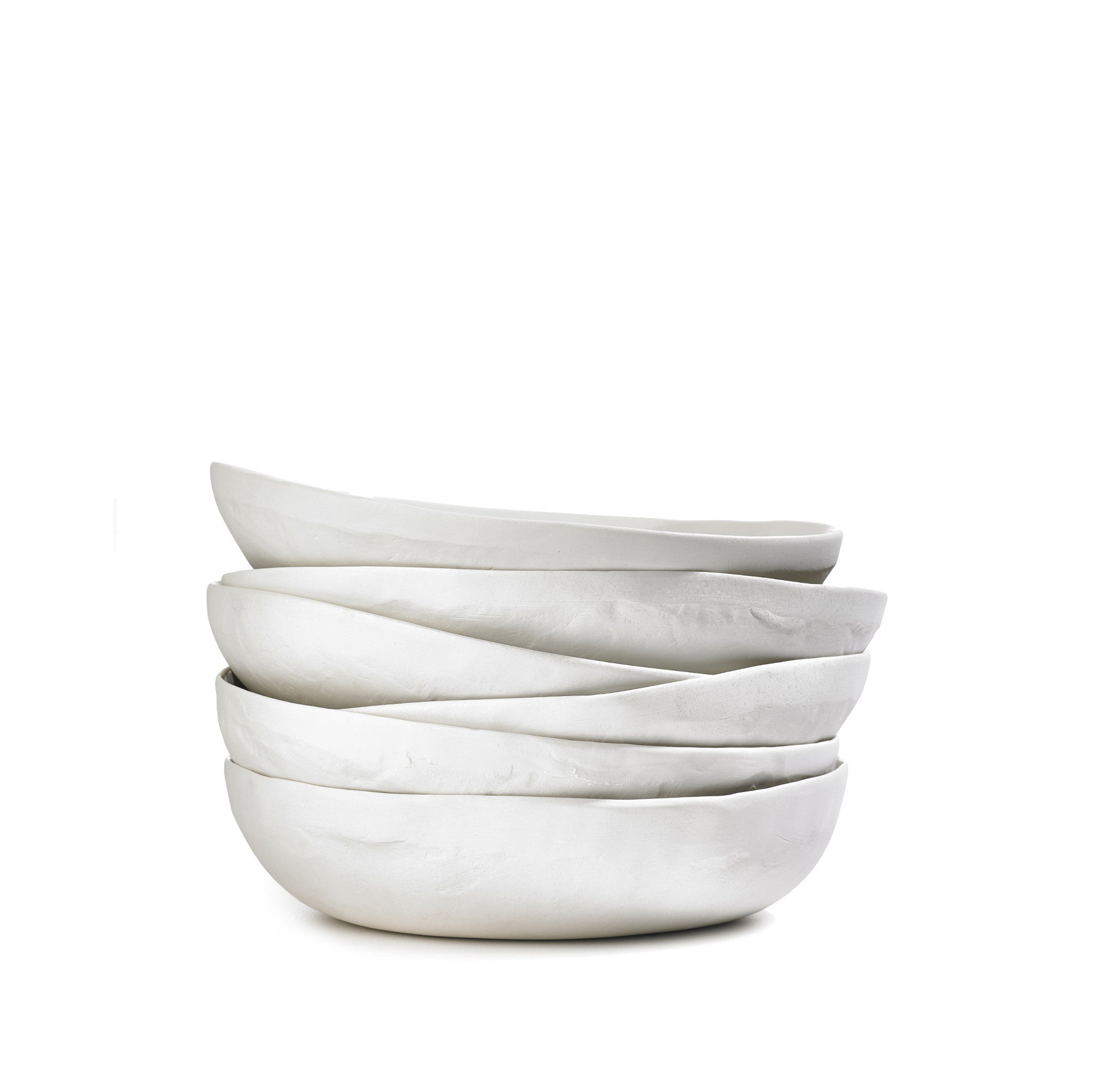 S&B Handmade 23cm Porcelain Soup Bowl with Plain Rim