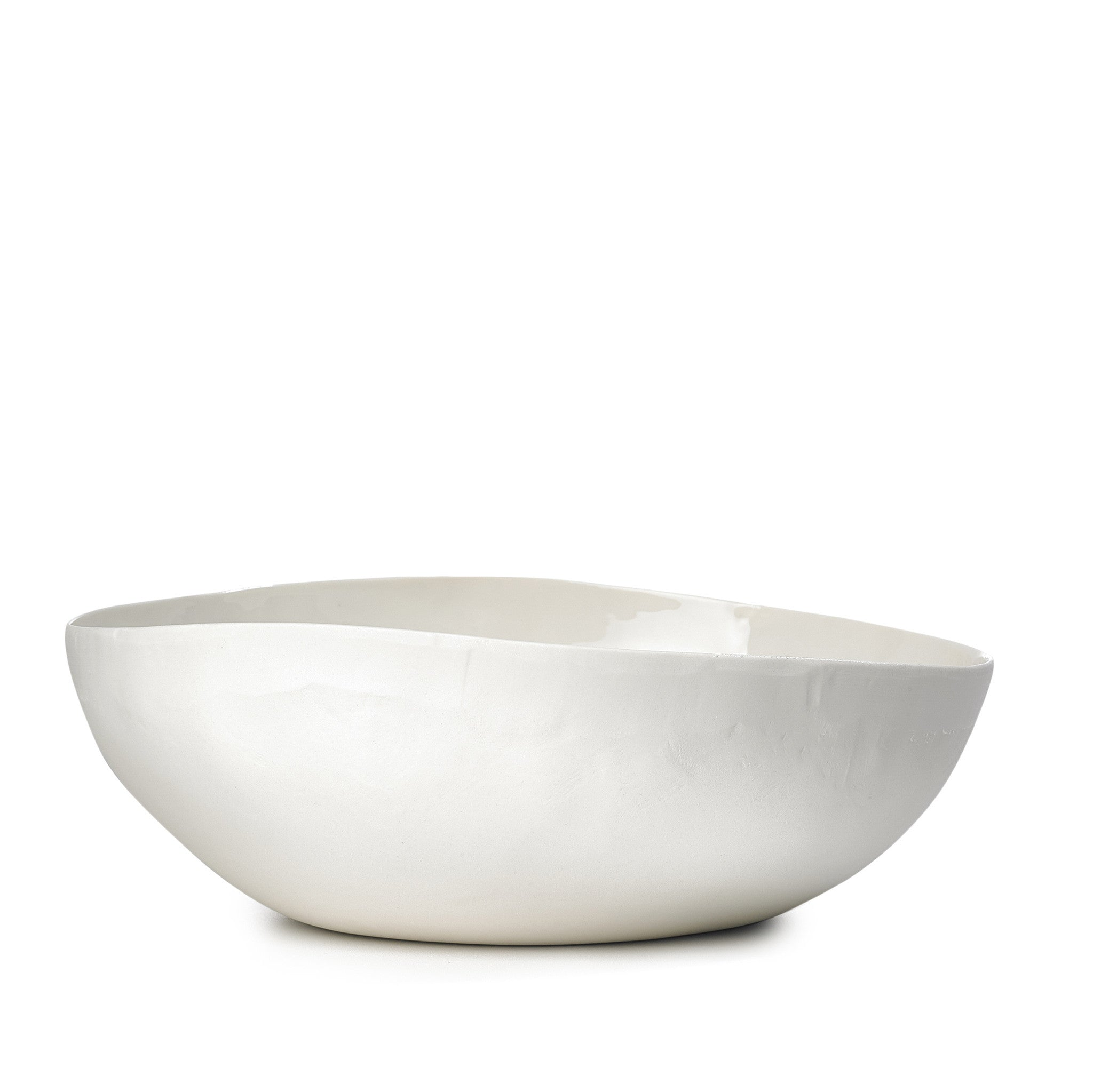 S&B Handmade 30cm Porcelain Medium Salad Bowl with Plain Rim