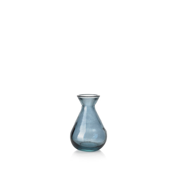 Recycled Glass Bud Vase in Powder Blue