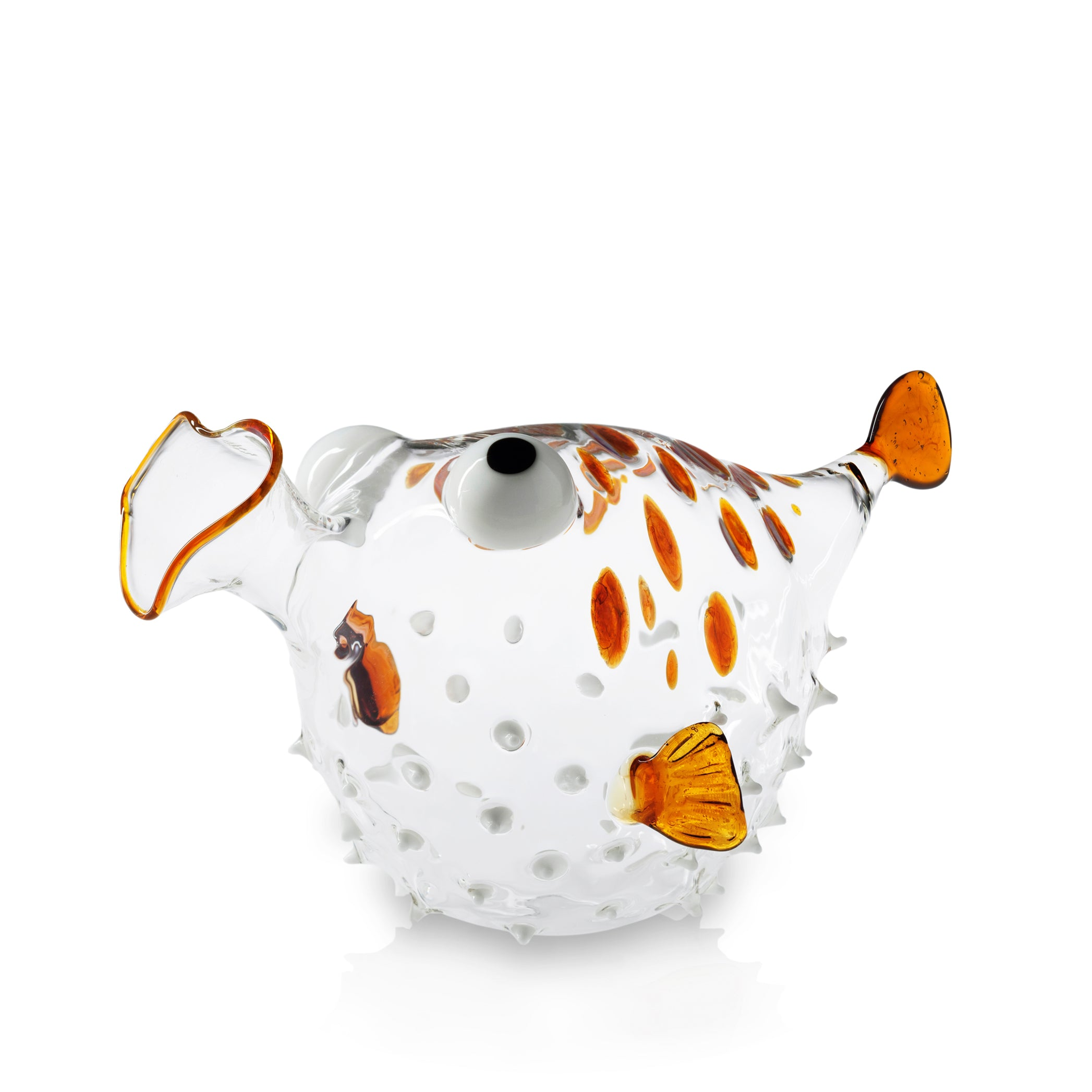 Handblown Glass Puffer Fish Decanter