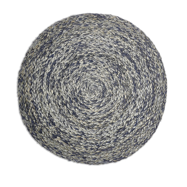 Round Raffia Placemat in Smokey Blue