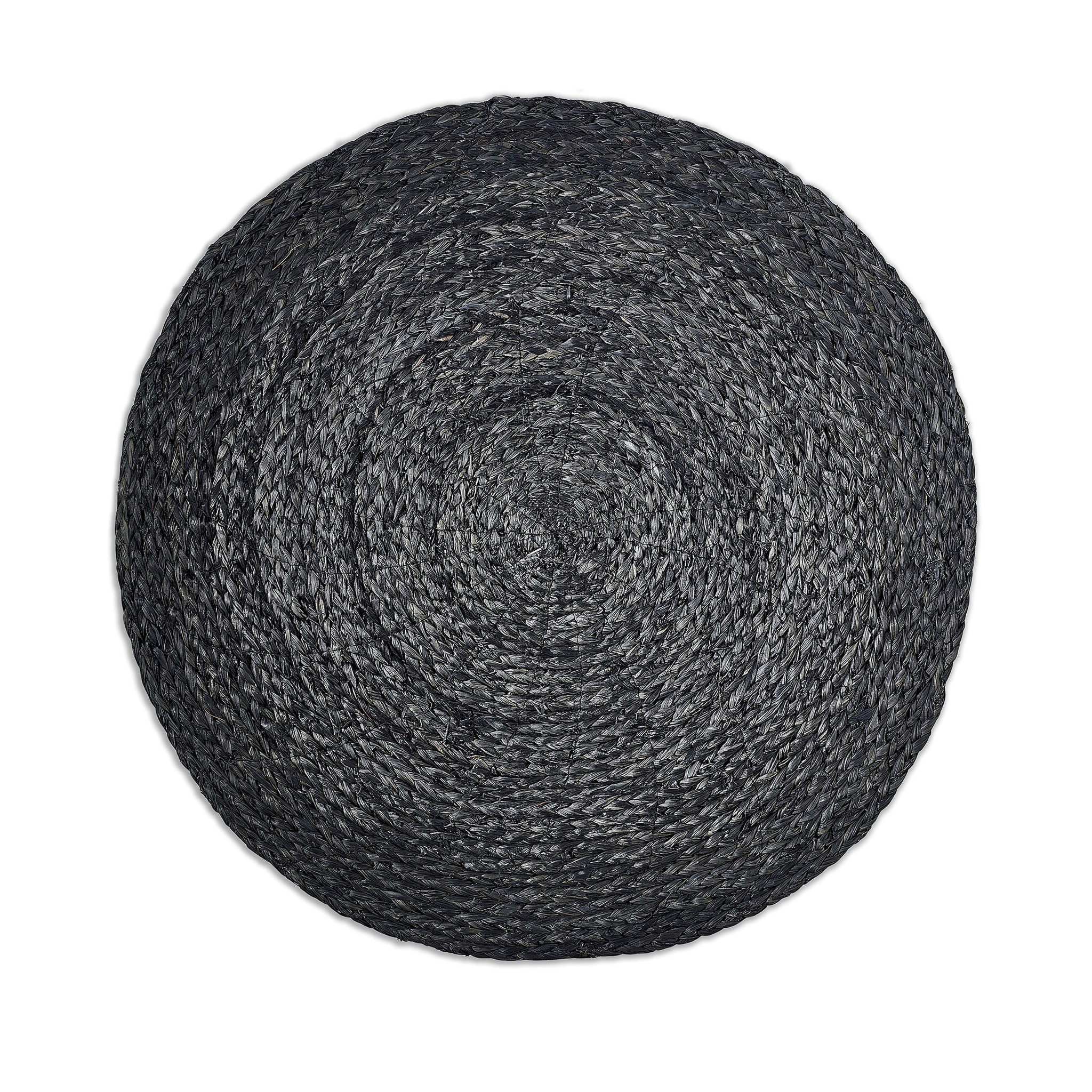 Round Raffia Placemat in Black