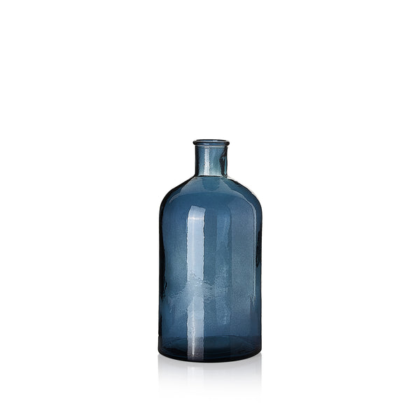 Recycled Glass Bottle in Powder Blue, 28cm