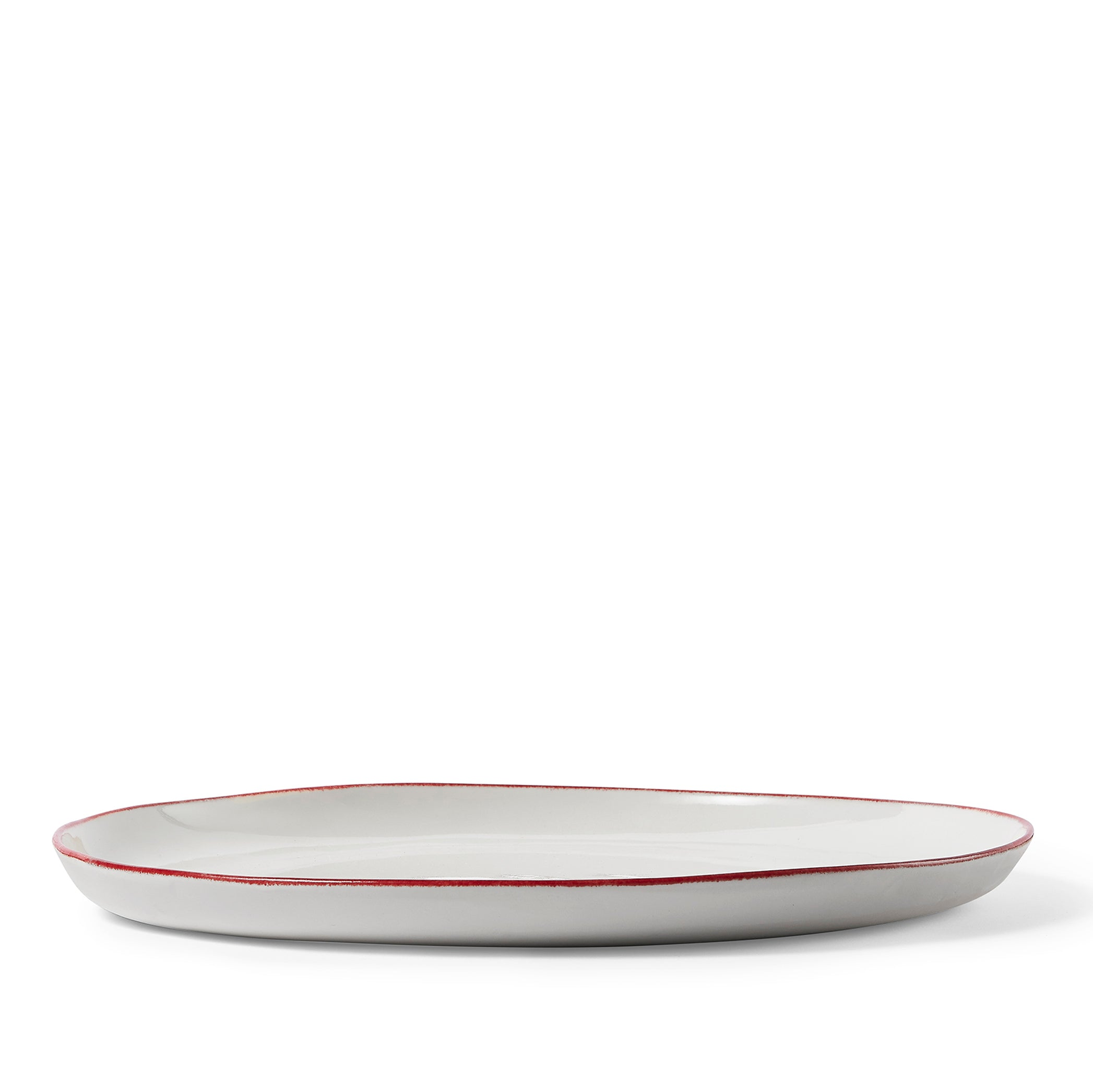 Made to order - S&B Handmade 31cm Porcelain Dinner Plate with Red Rim