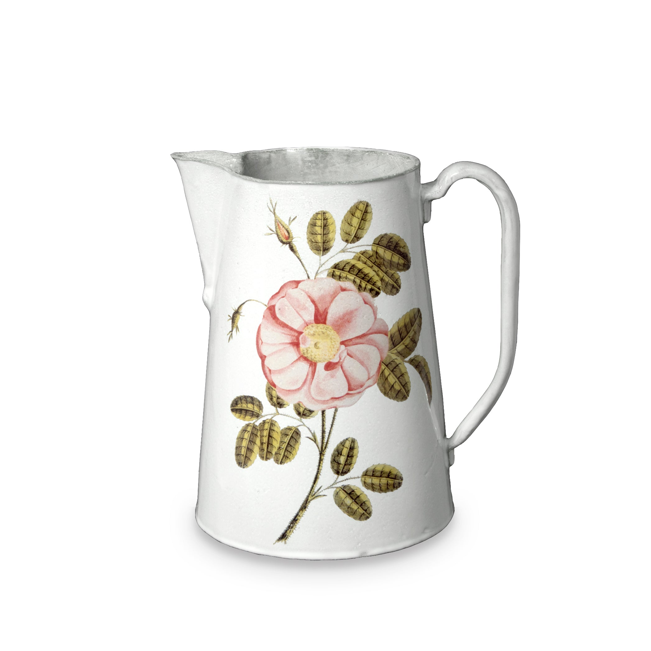 Painted Rose Pitcher by Astier de Villatte
