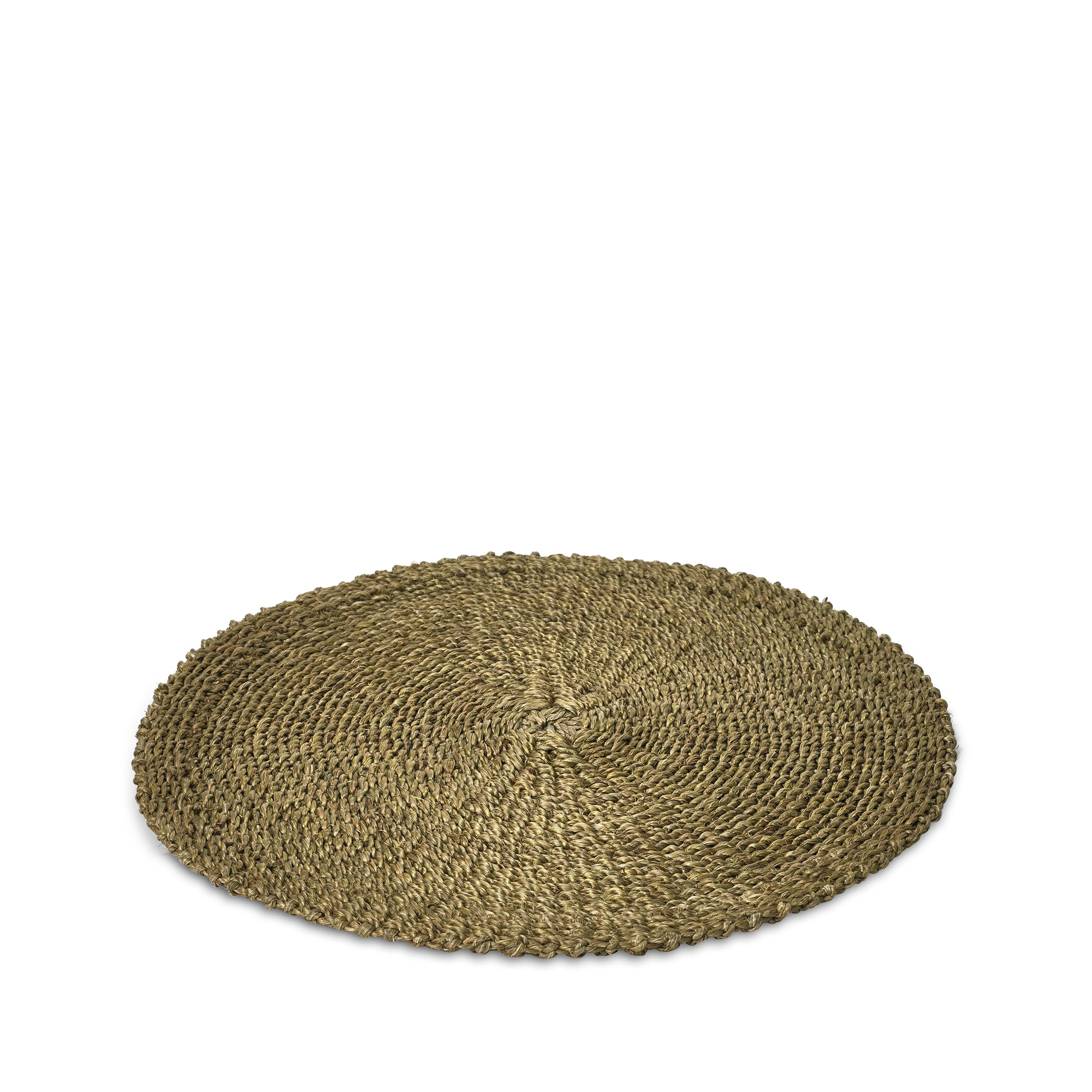 Abaca Woven Round Placemat in Sage