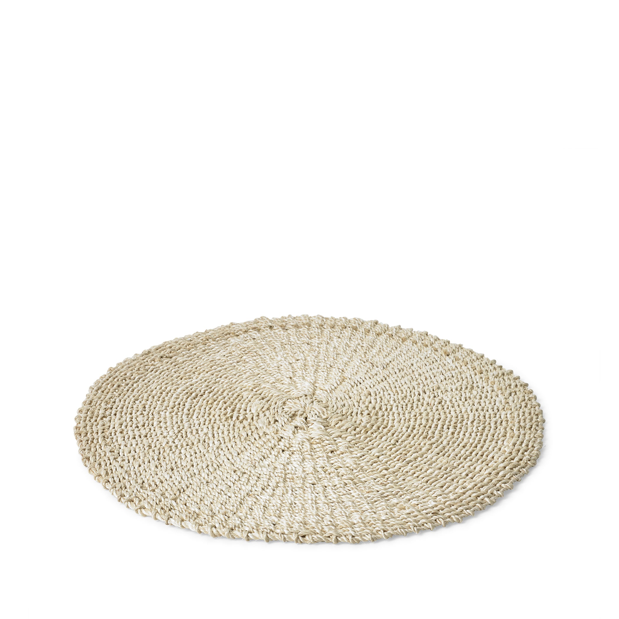 Abaca Woven Round Placemat in Cream