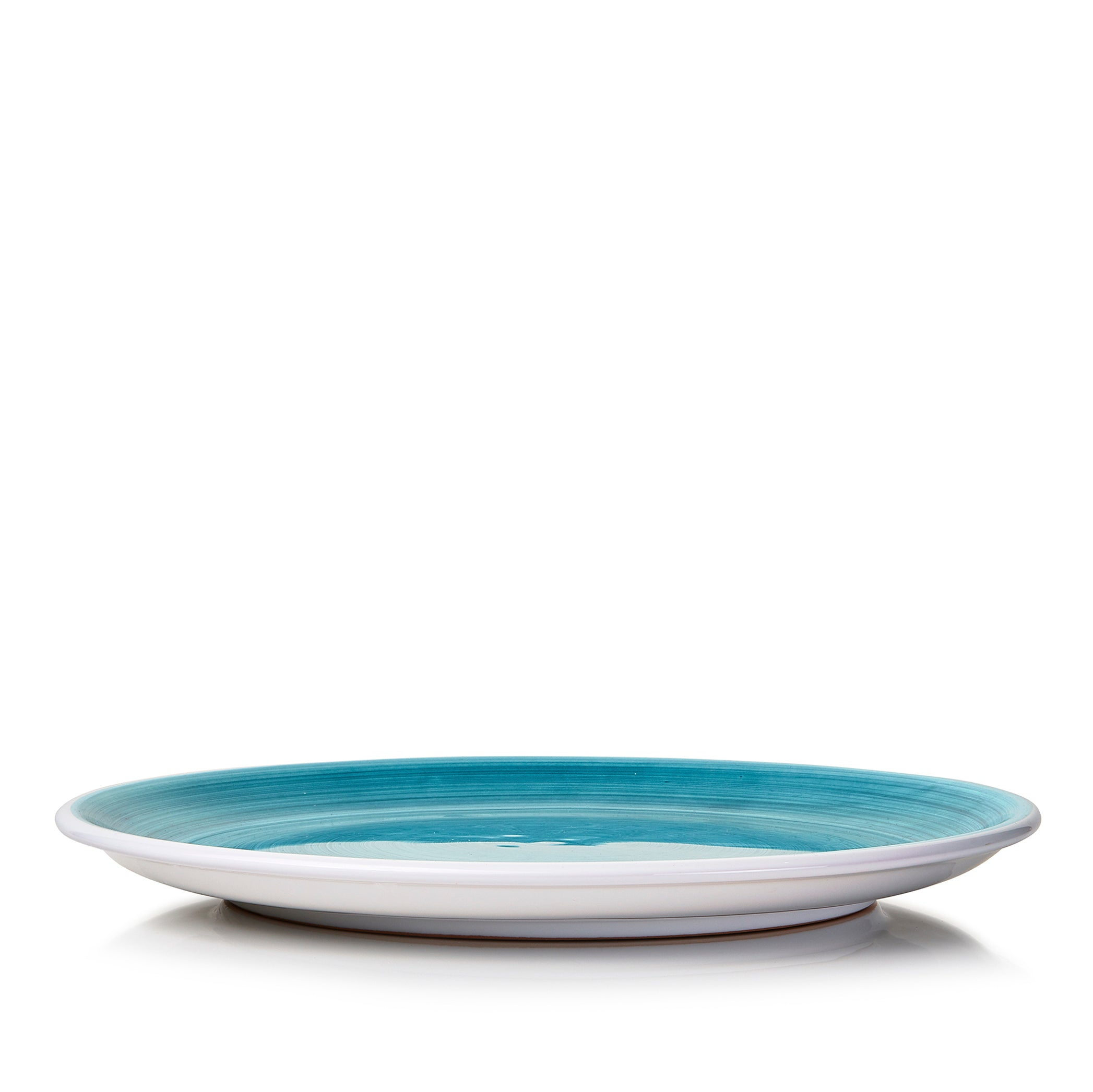 S&B 'Brushed' Ceramic Dinner Plate in Sea Blue, 28cm