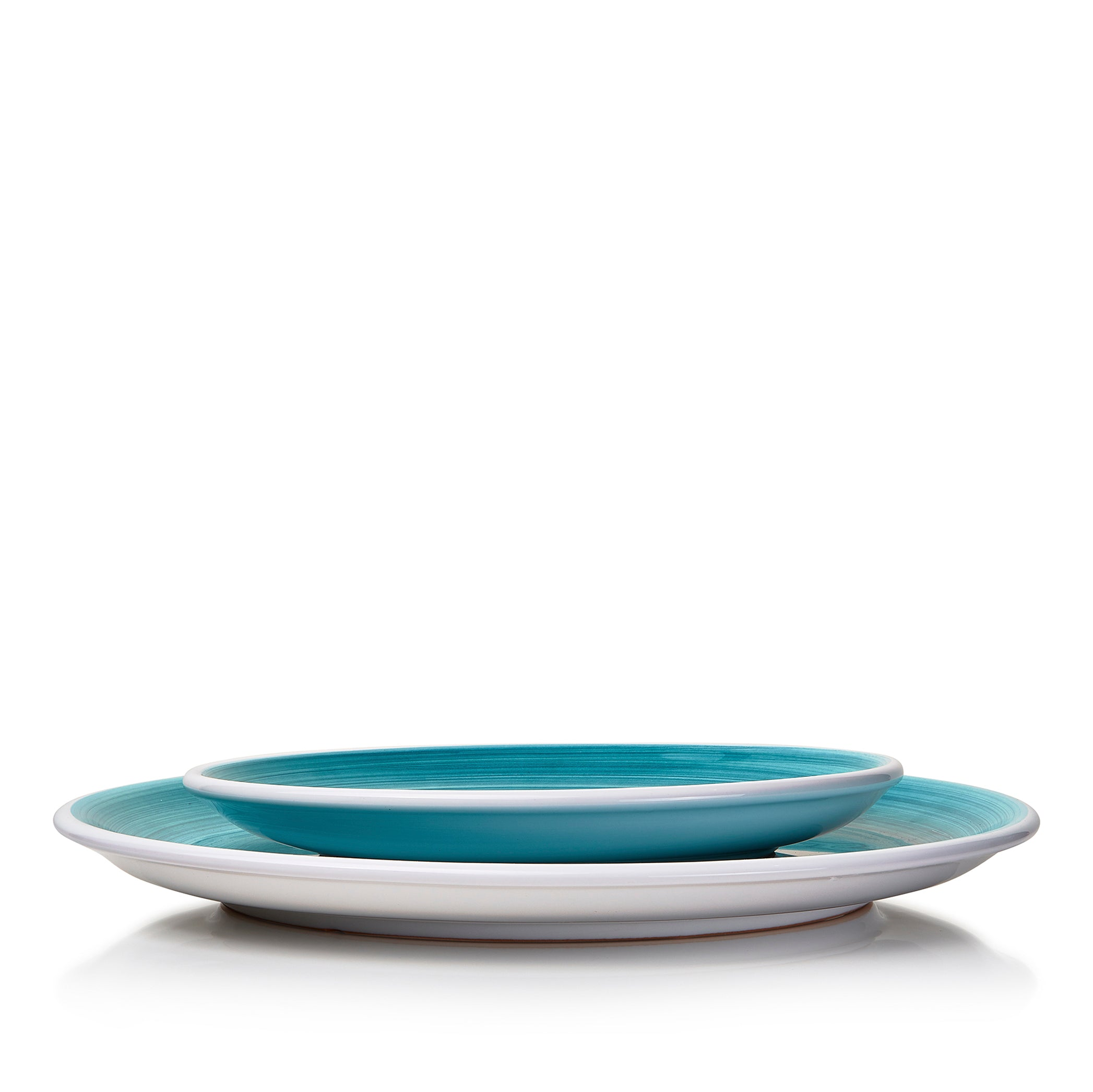 S&B 'Brushed' Ceramic Side Plate in Sea Blue, 21cm
