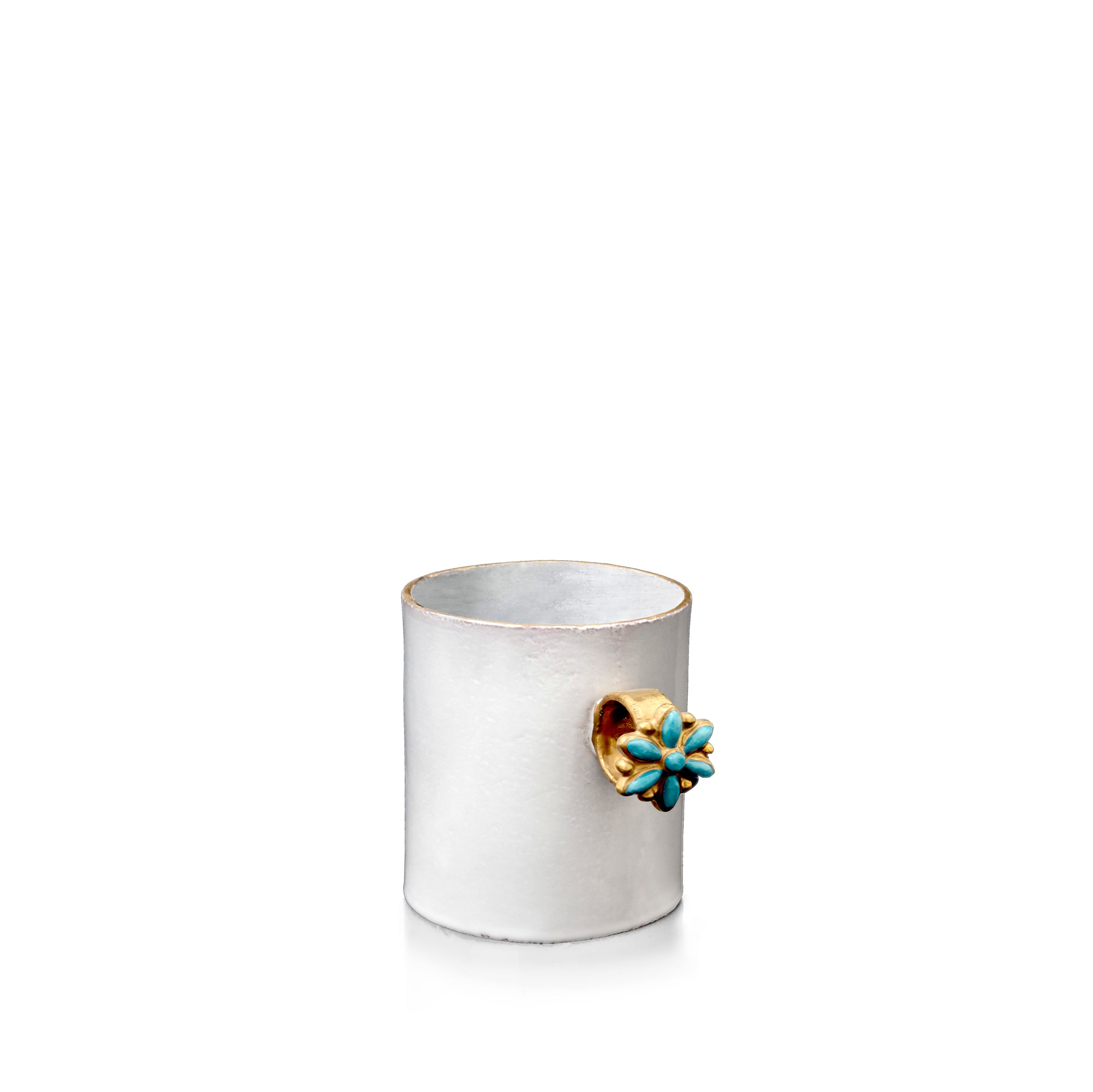 Serena Blue Flower Ring Mug by Astier de Villatte