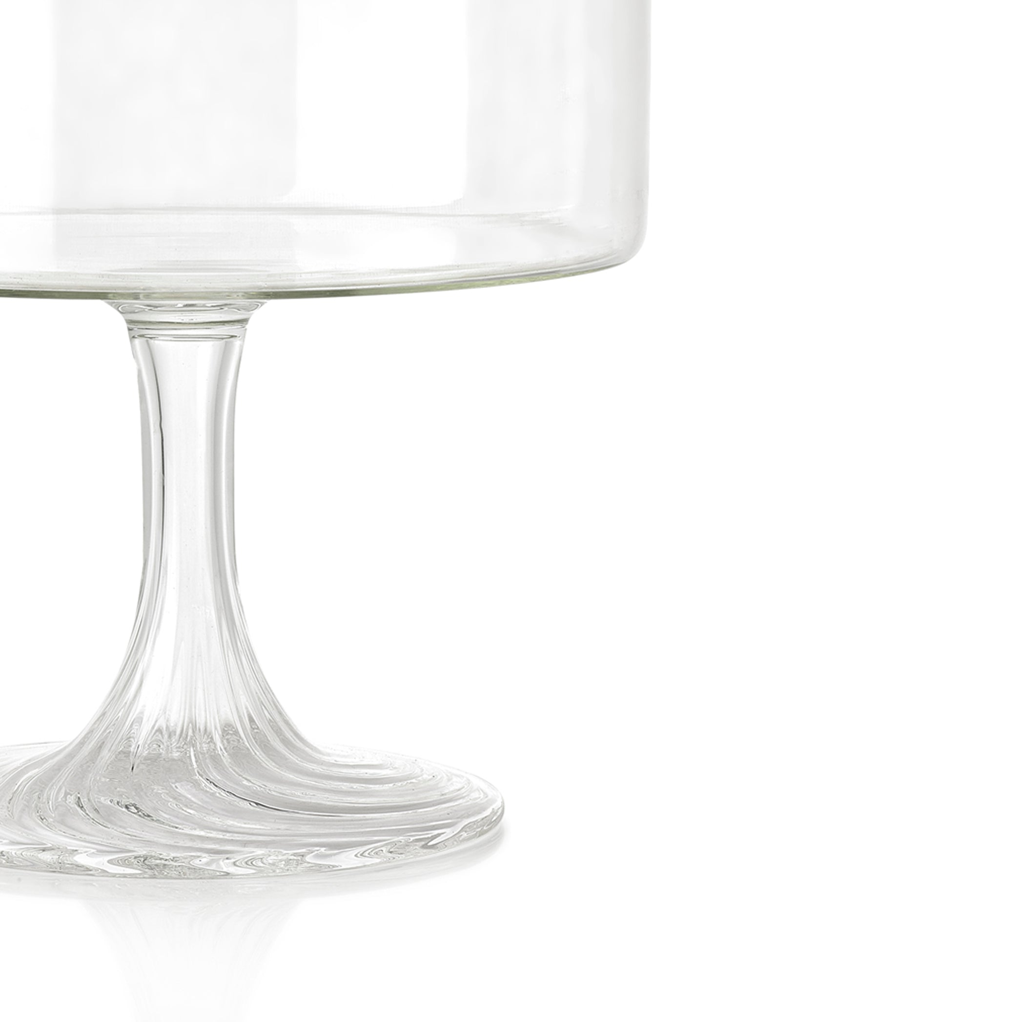 Handblown Glass Serving Stand, Large