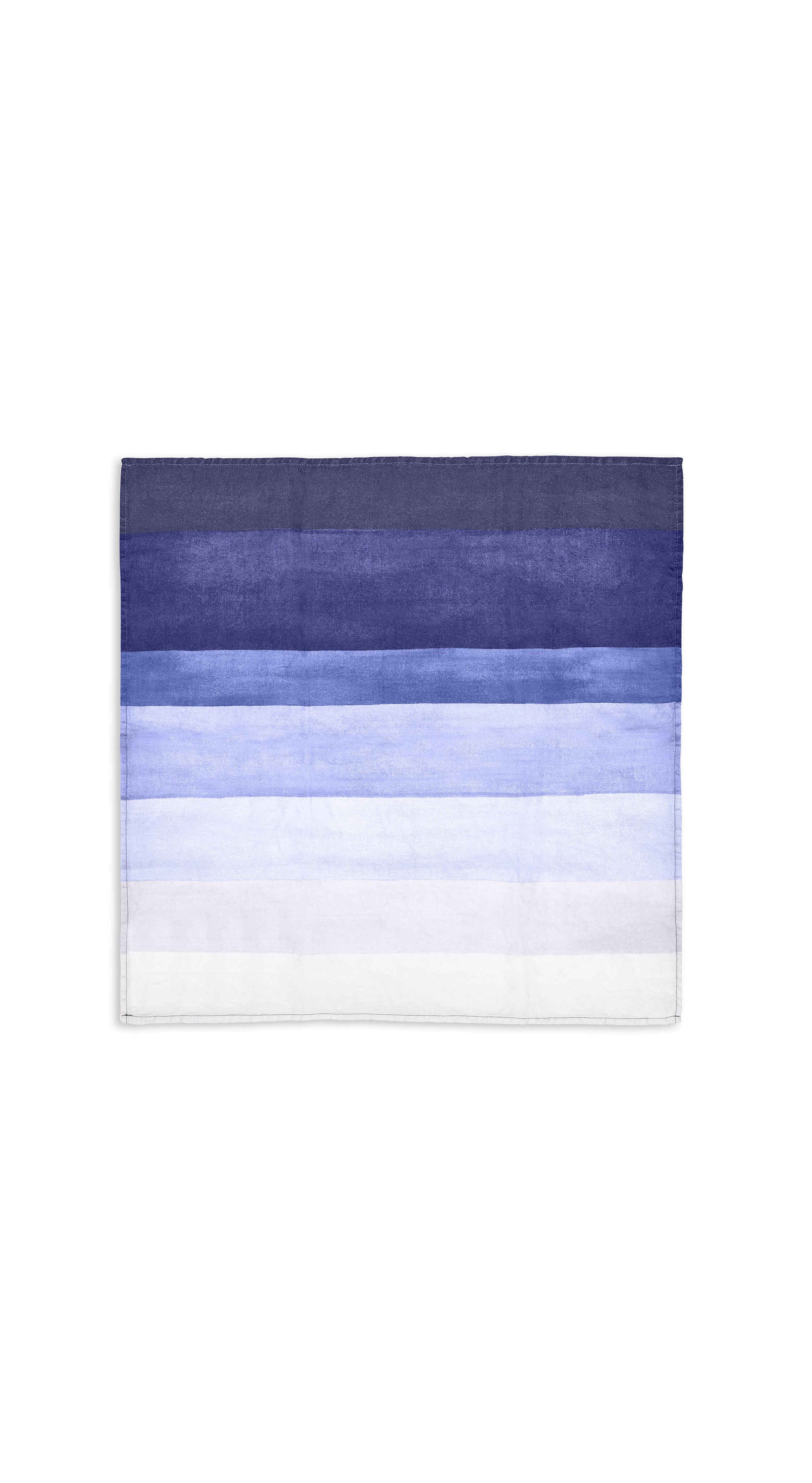 Shades Of Blue Striped Linen Napkin