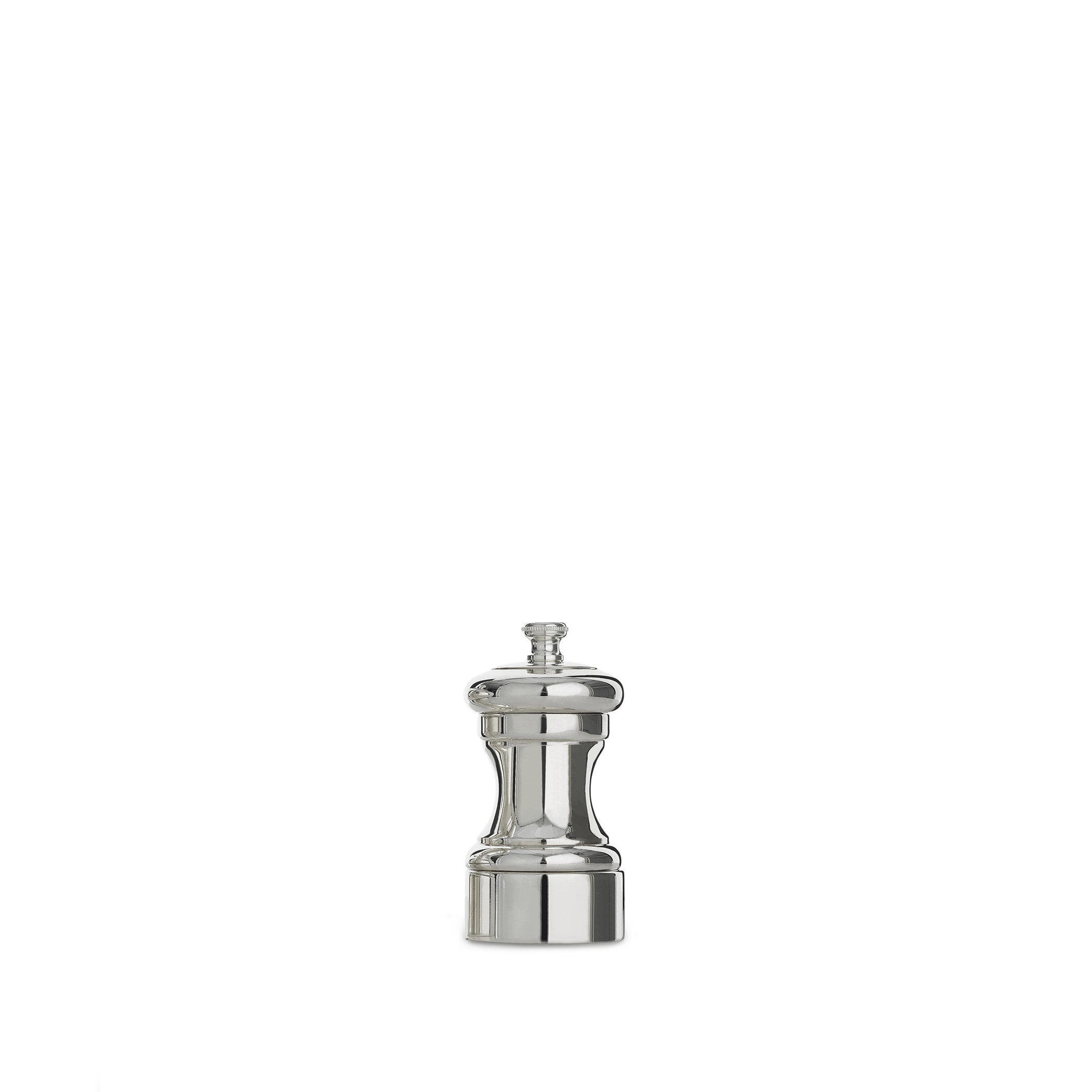 Peugeot Mignonette Silver Plated Salt & Pepper Mill Set, 10cm