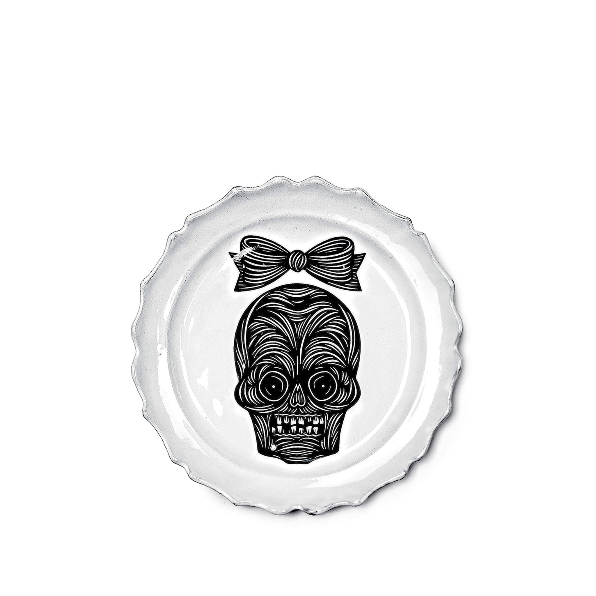 Female Skull Dinner Plate by Astier de Villatte