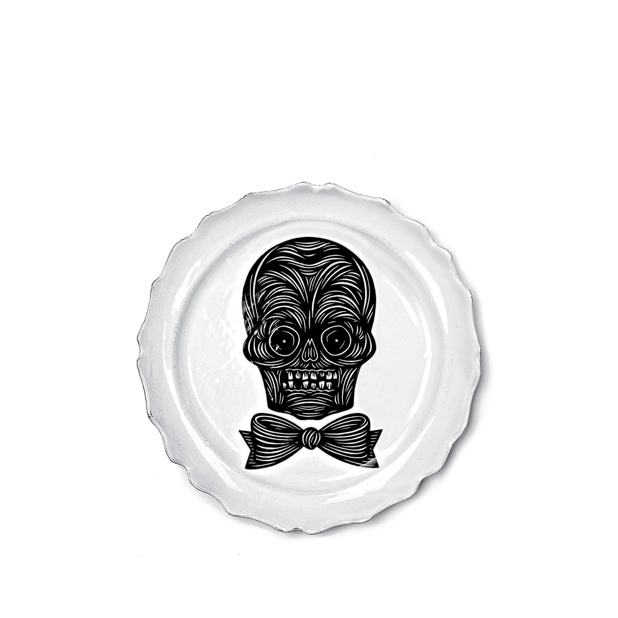 Male Skull Dinner Plate by Astier de Villatte