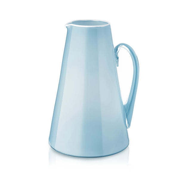 Handblown Glass Bumba Jug in Sky Blue