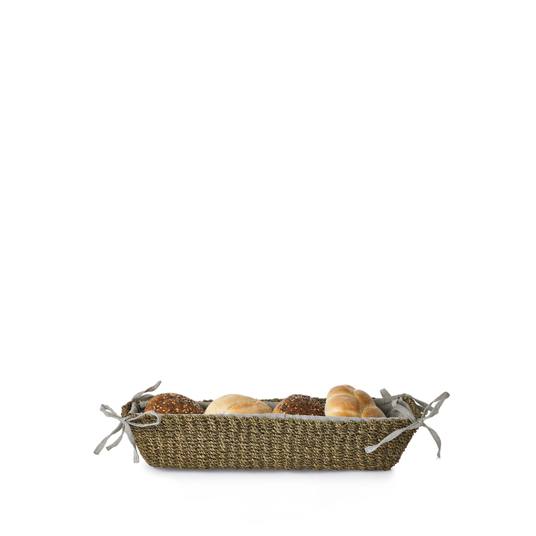 Abaca Woven Bread Basket in Sage