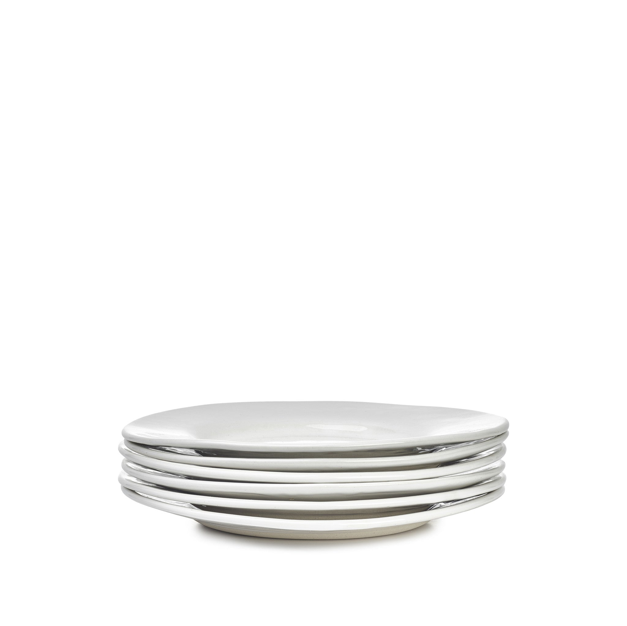 Wonki Ware Small Side Plate in White, 19cm