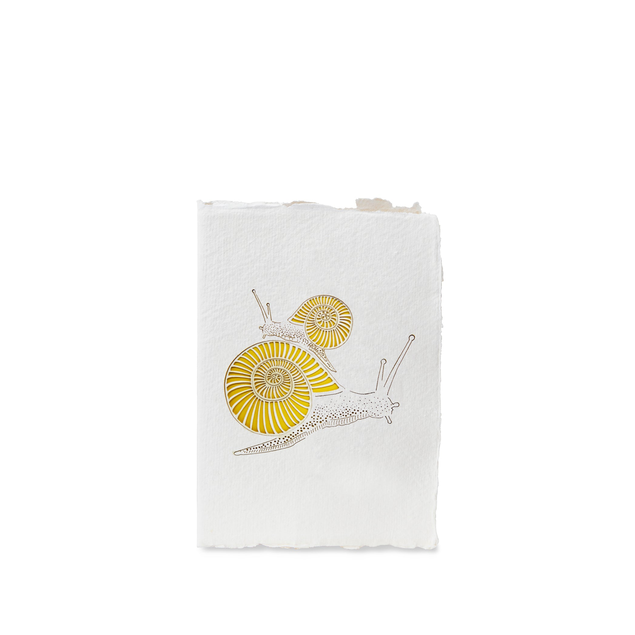 Handmade Paper Greeting Card with Snail
