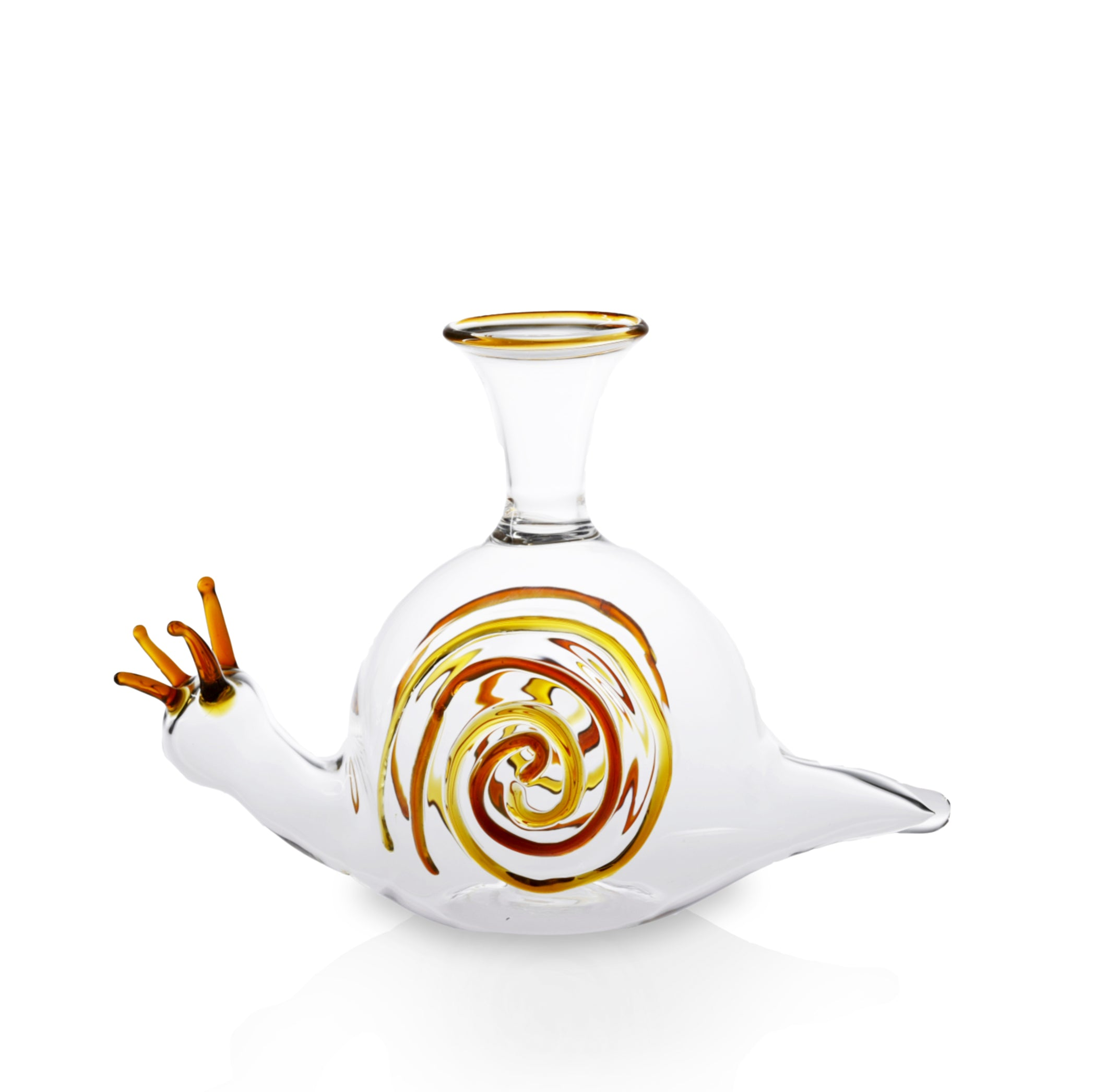 Handblown Glass Snail Decanter