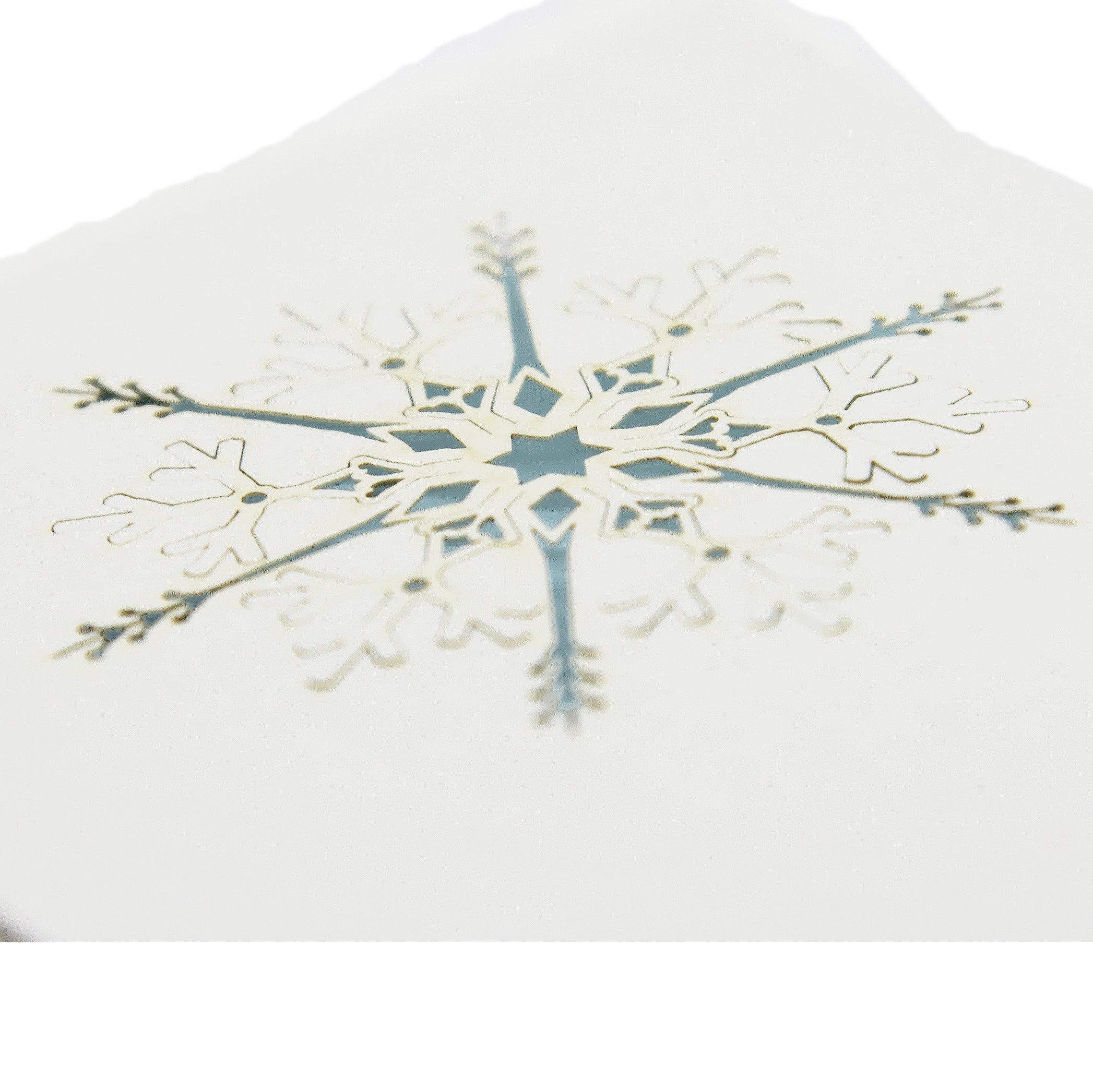 Handmade Paper Greeting Card with Snowflake