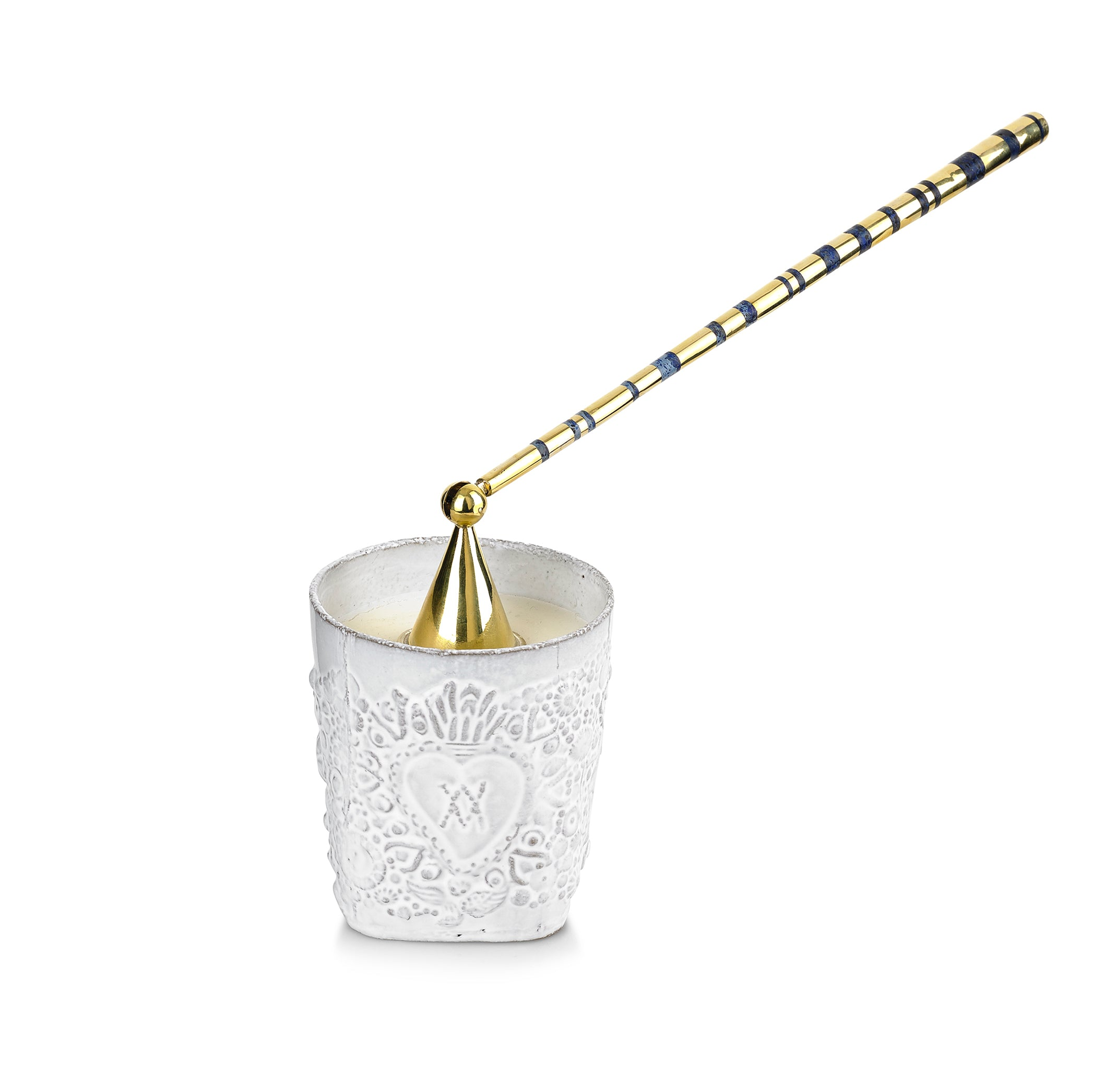 S&B x Pippa Small Lapis Inlaid Candle Snuffer
