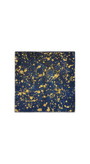 MADE TO ORDER - Splatter Linen Napkin in Midnight Blue with Gold
