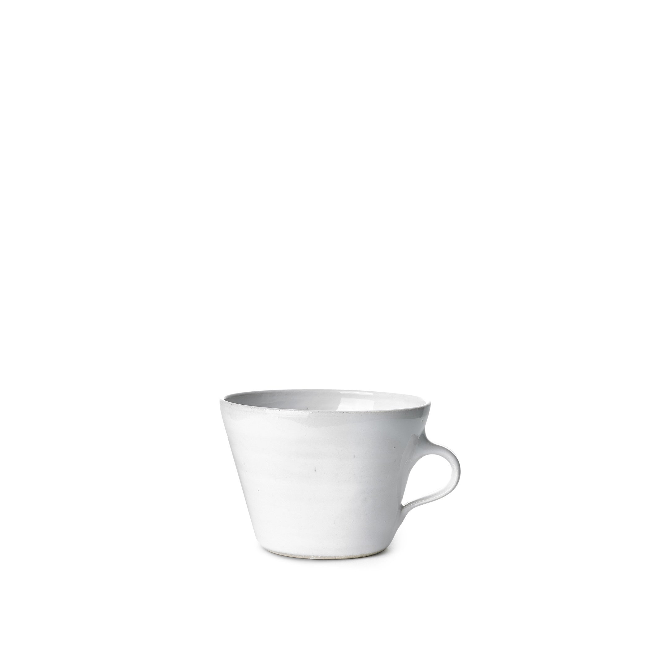 Wonki Ware Squat Fluted Mug in White