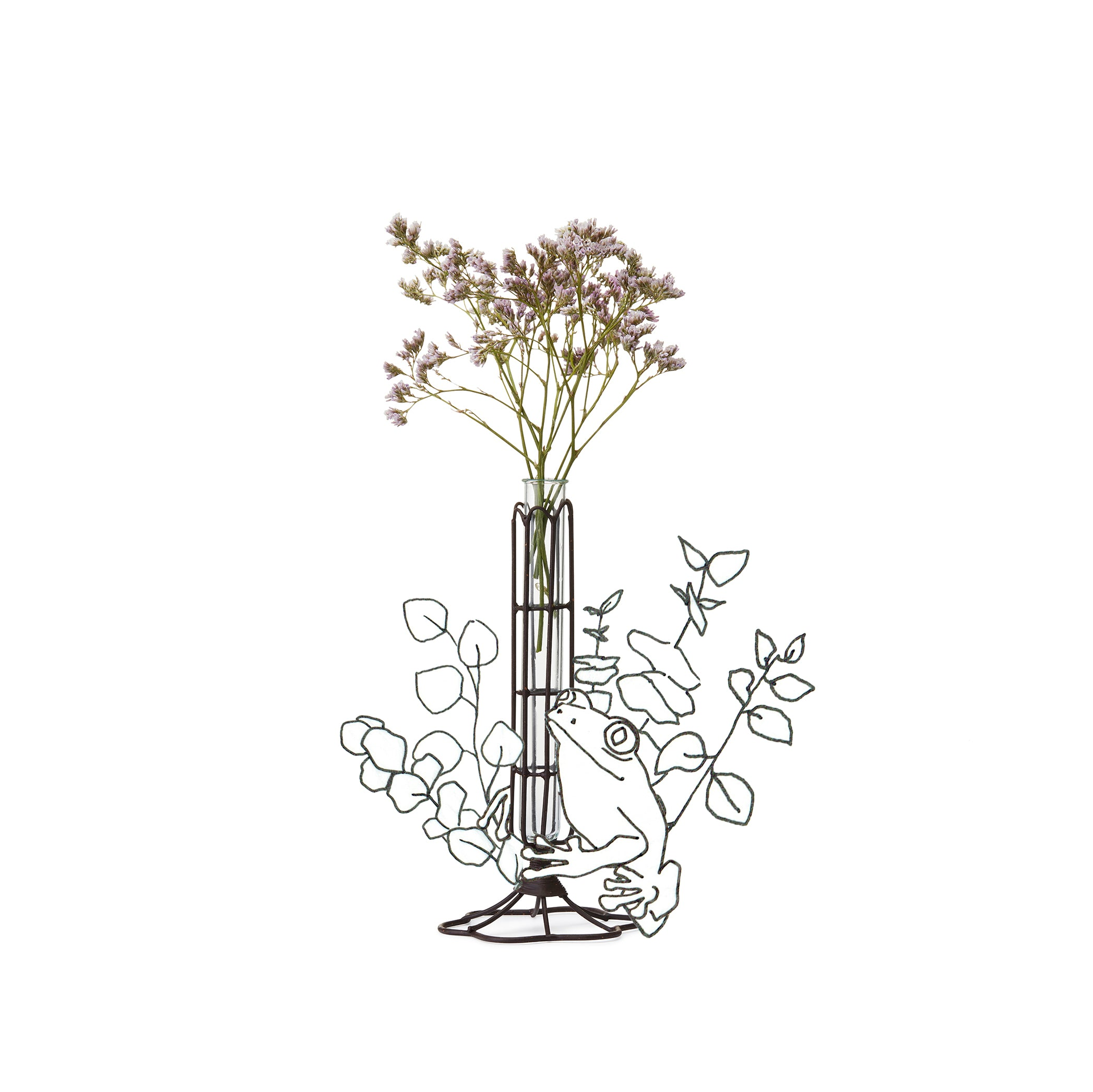 Wire Flower Stem Vase