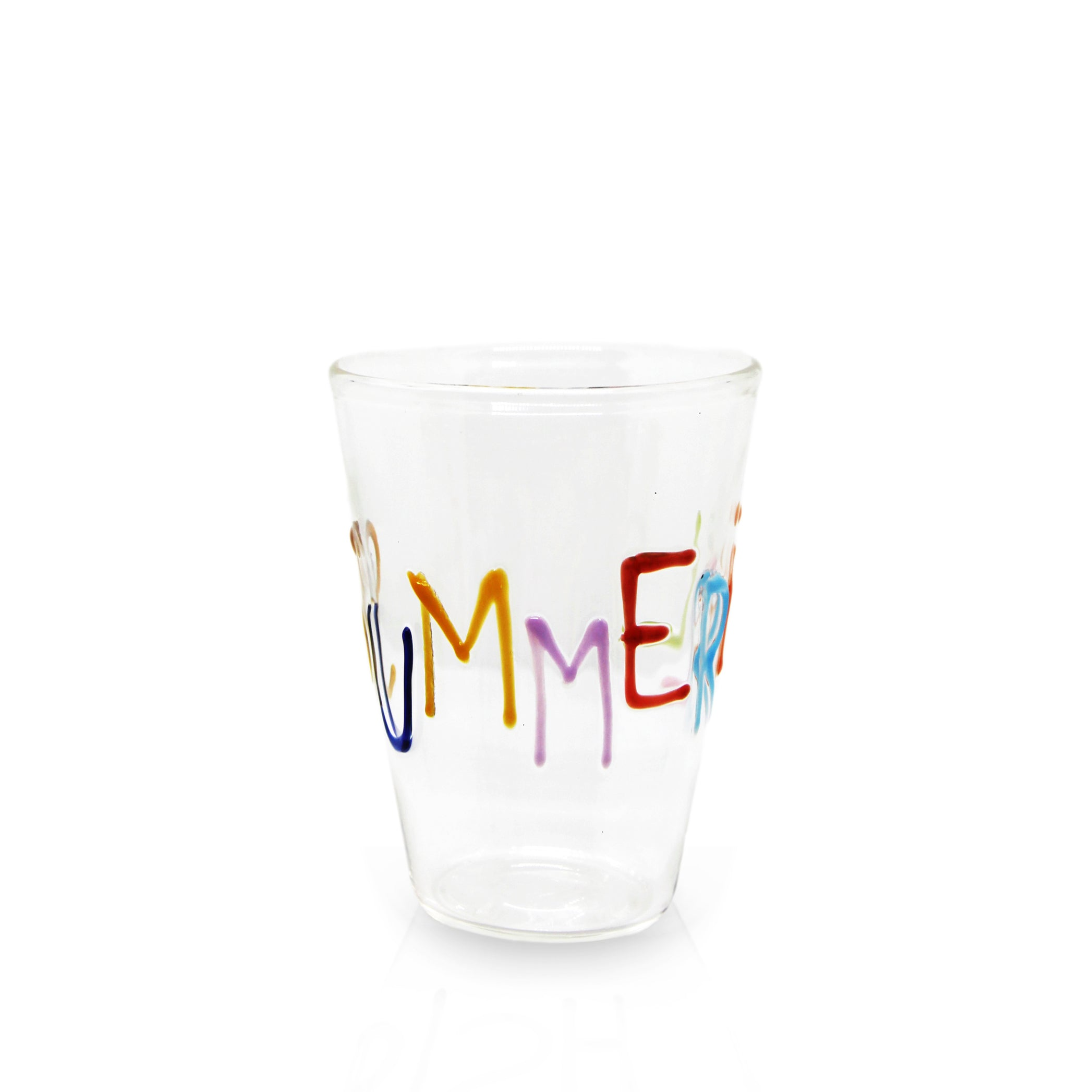 Bespoke Handblown Glass Word Tumbler