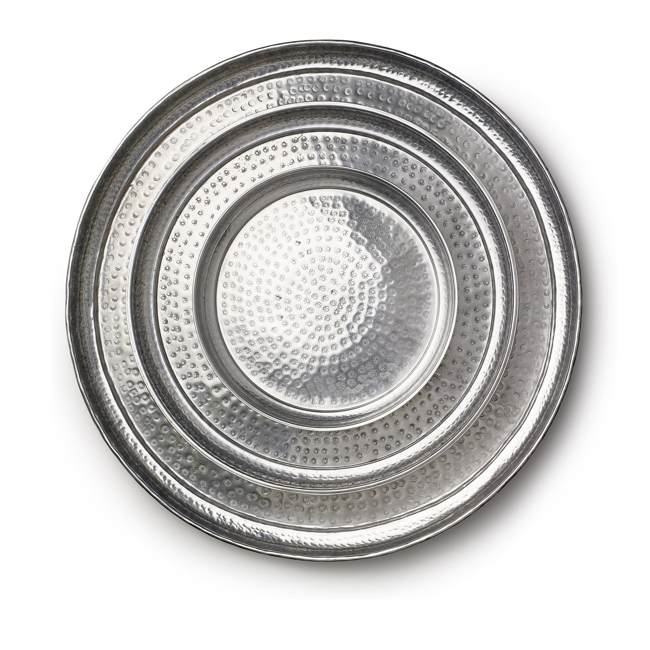 Round Aluminium Coffee Tray, 40cm