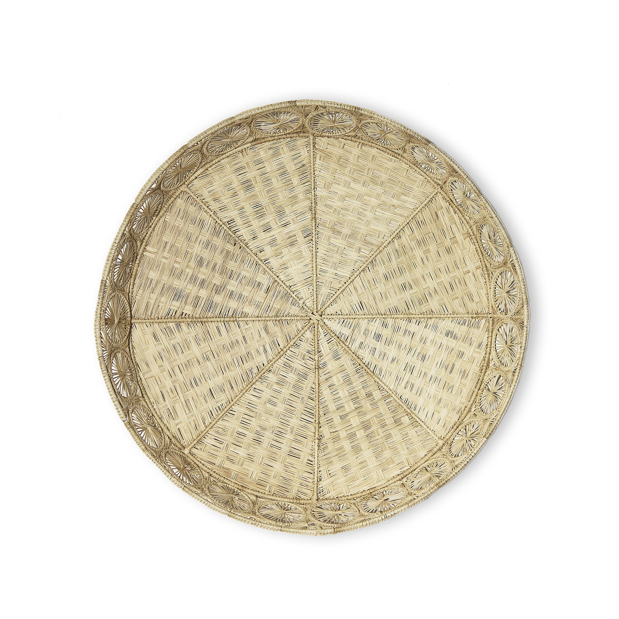 Handwoven Round Tray in Natural, 50cm