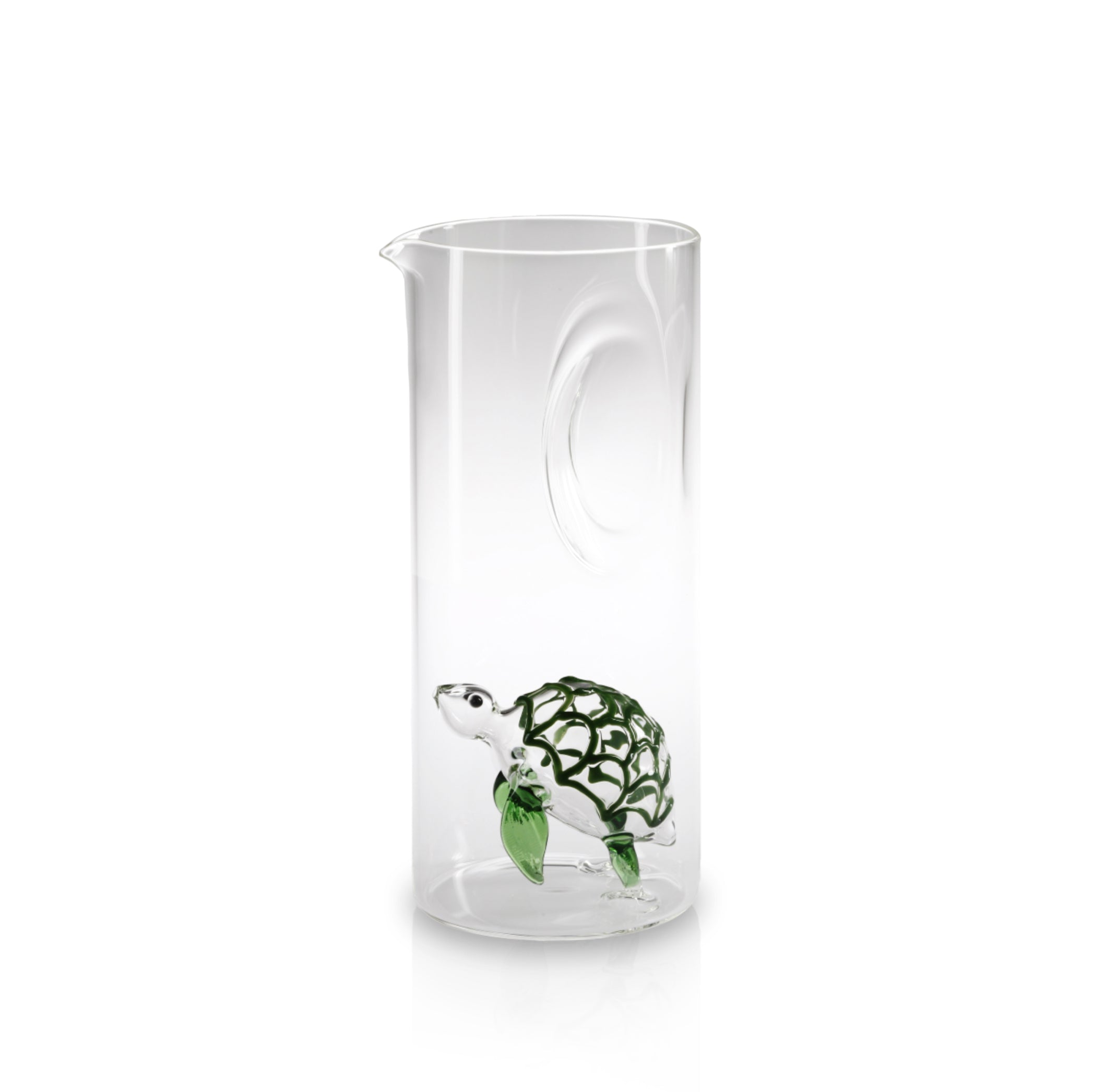 Handblown Glass Turtle Carafe