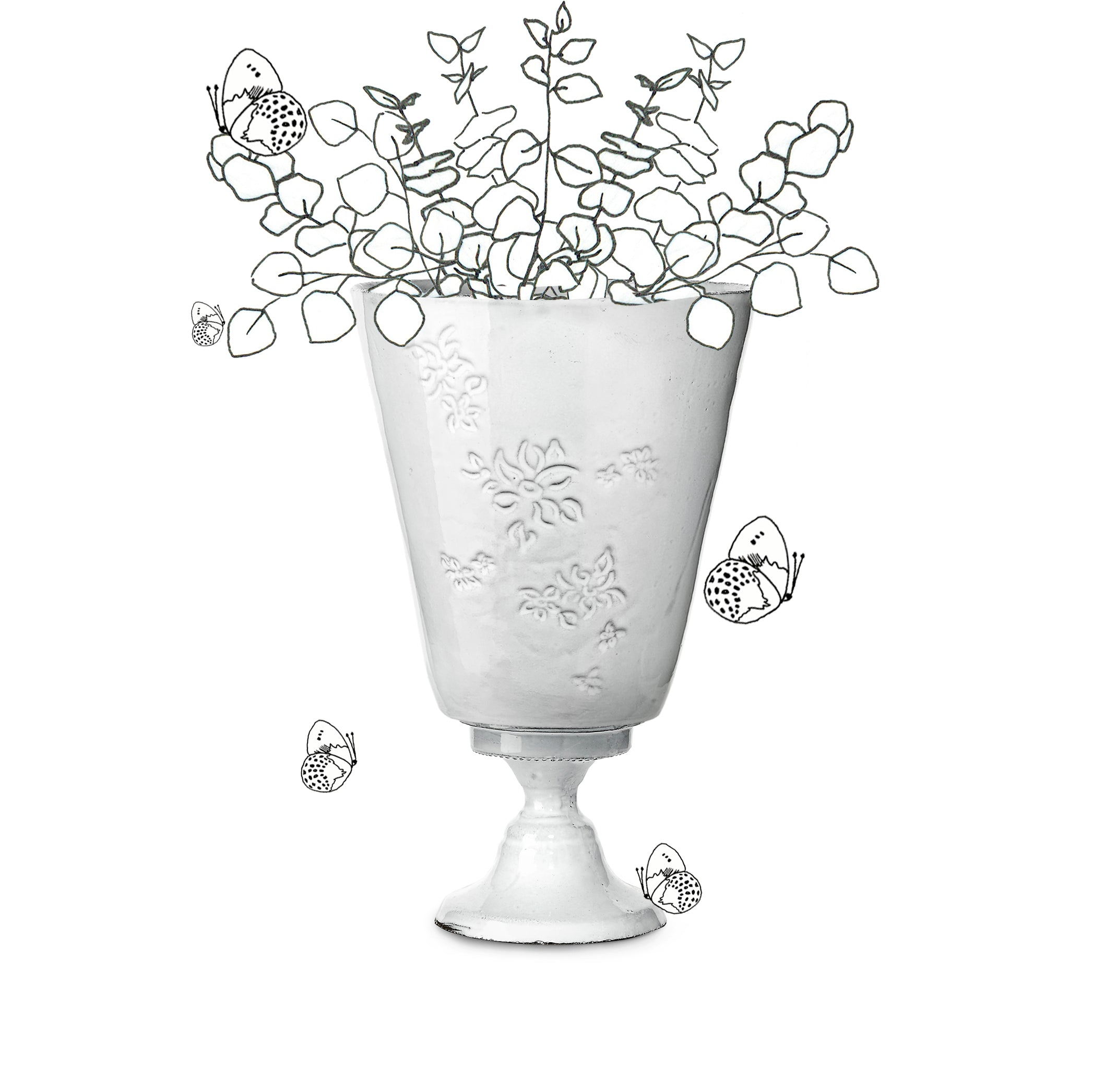 Astier de Villatte x Summerill & Bishop Vase with Falling Flower