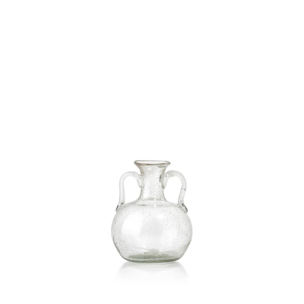 Handblown Glass Flower Vase with Arms