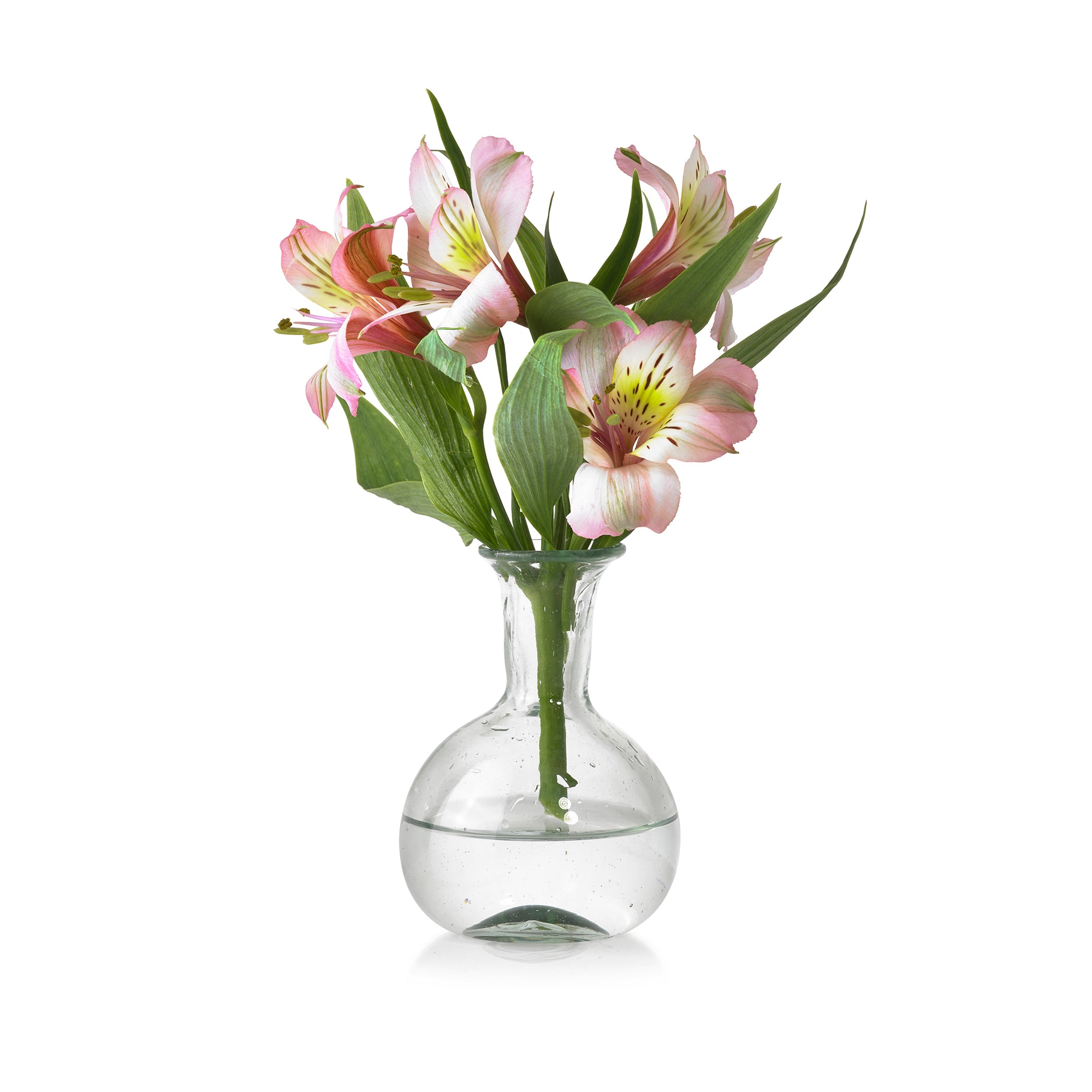 Handblown Small Round Bud Vase