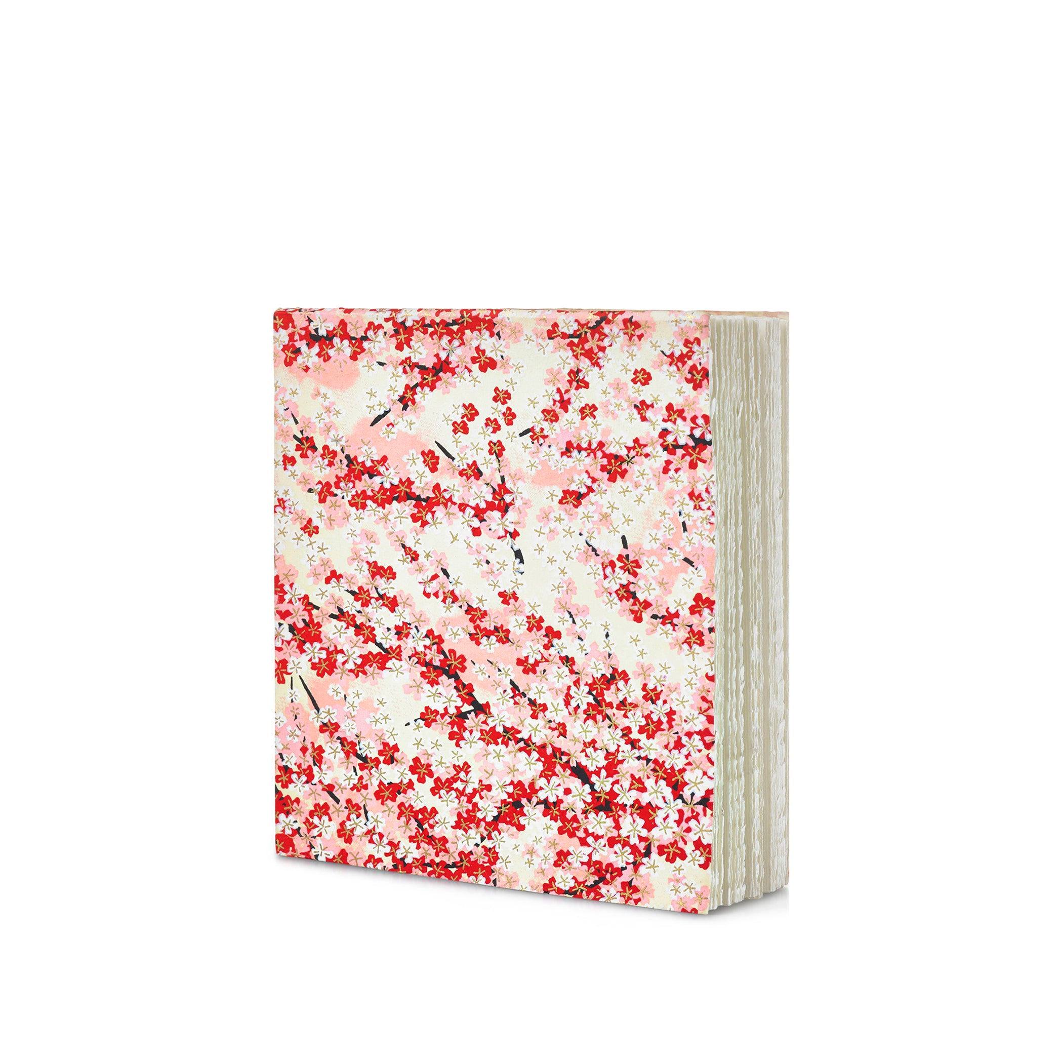 Handprinted Japanese Chiyogami Covered Sketchbook, Cherry Blossom
