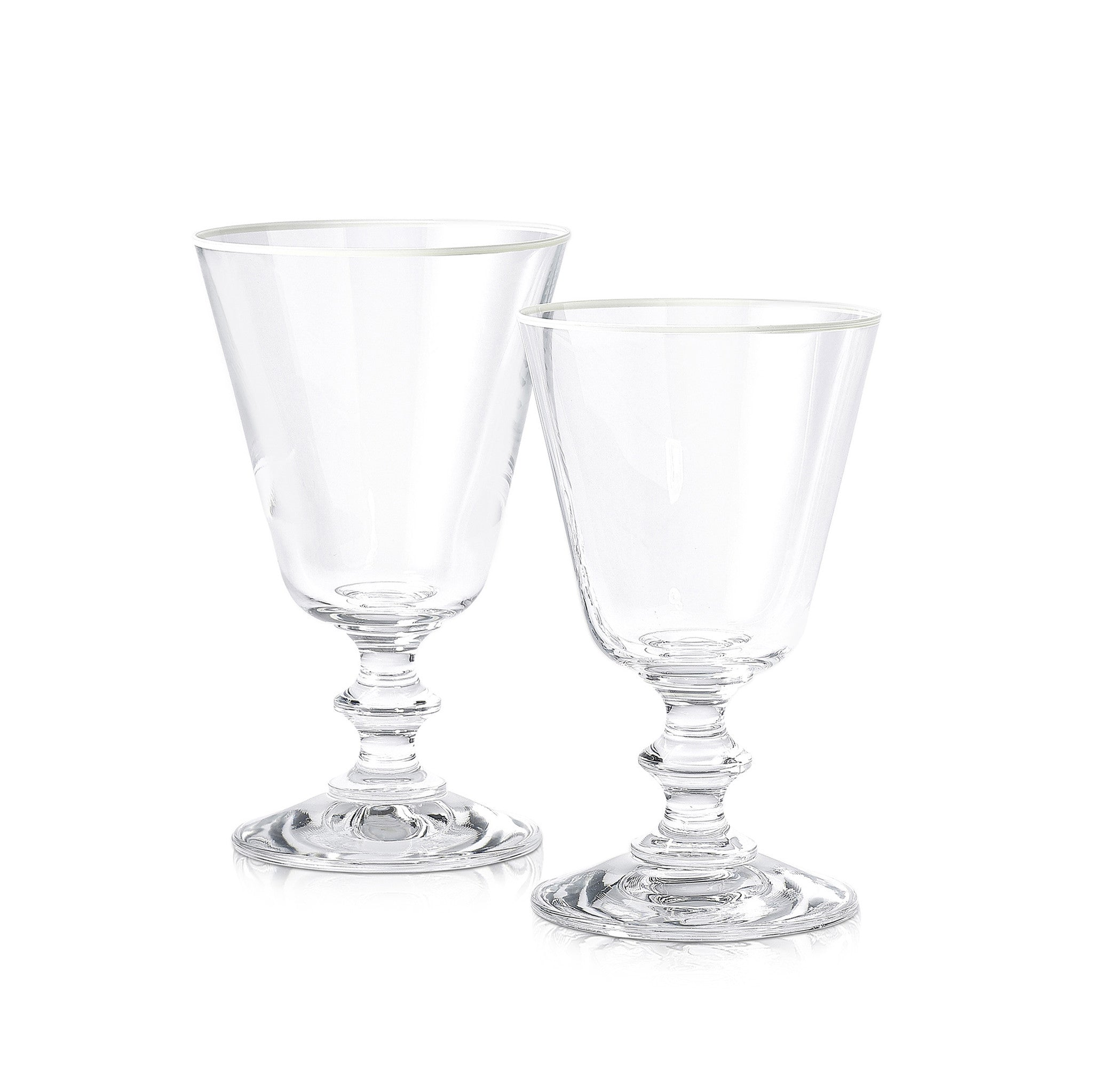 S&B Classic White Wine Glass With White Rim, 19cl