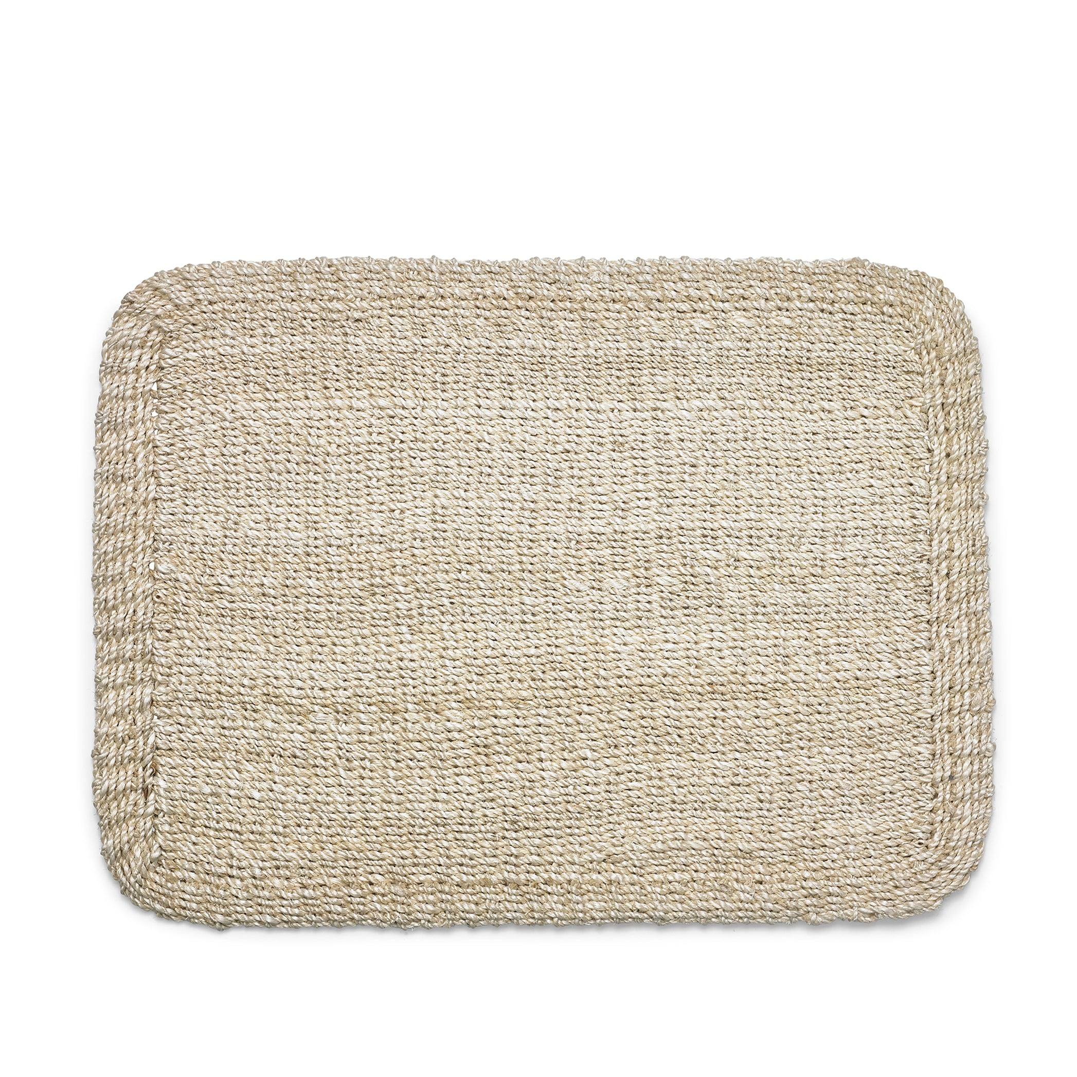 Abaca Woven Rectangular Placemat in Cream