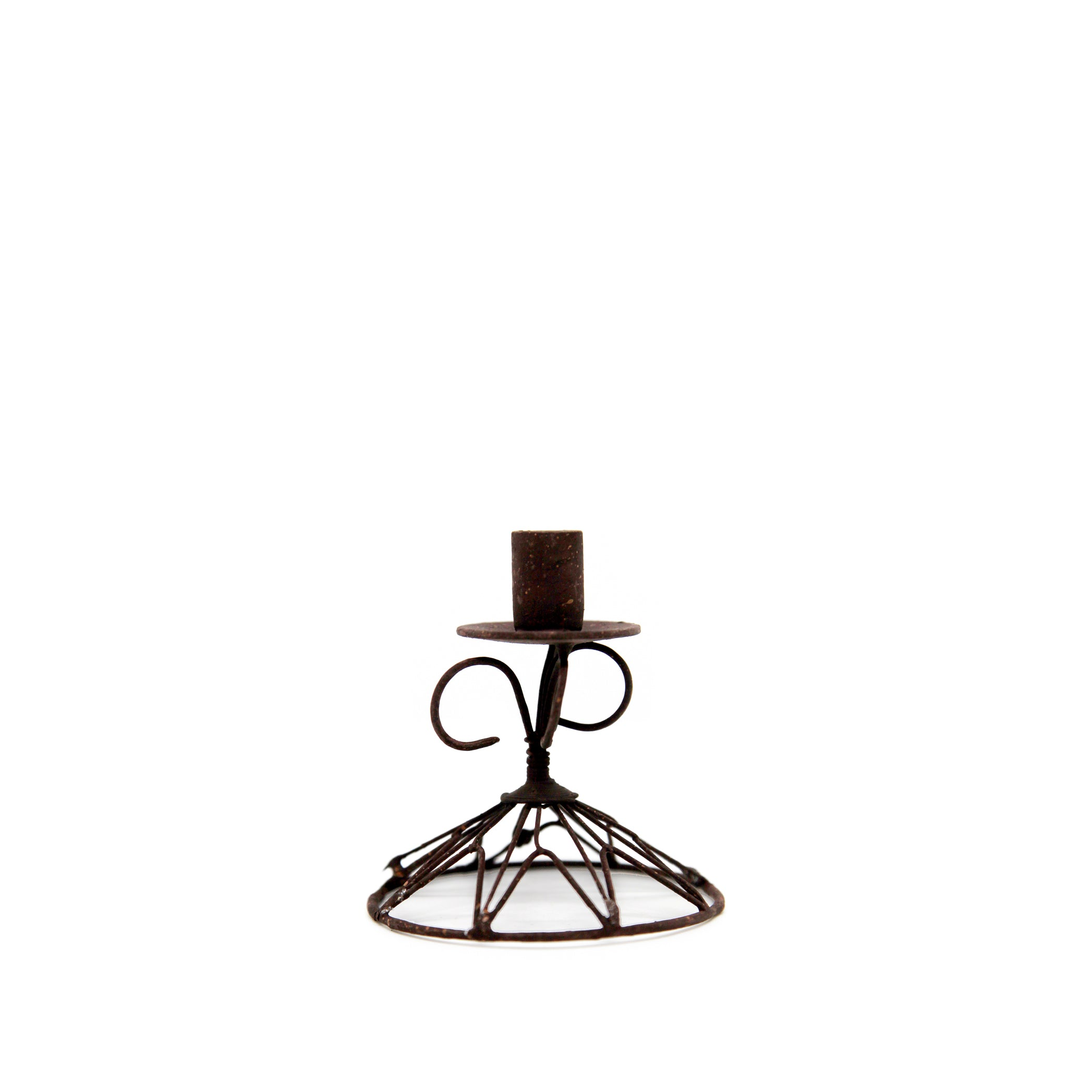 Wire Tapered Star Candlestick