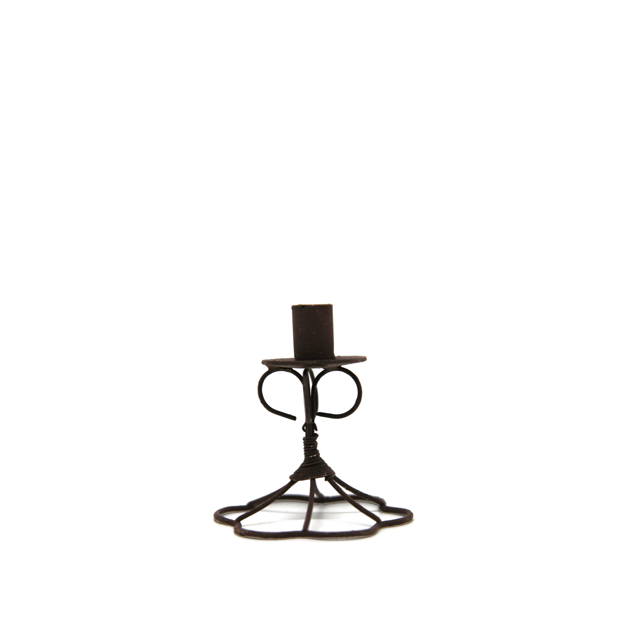 Wire Tapered Flower Candlestick