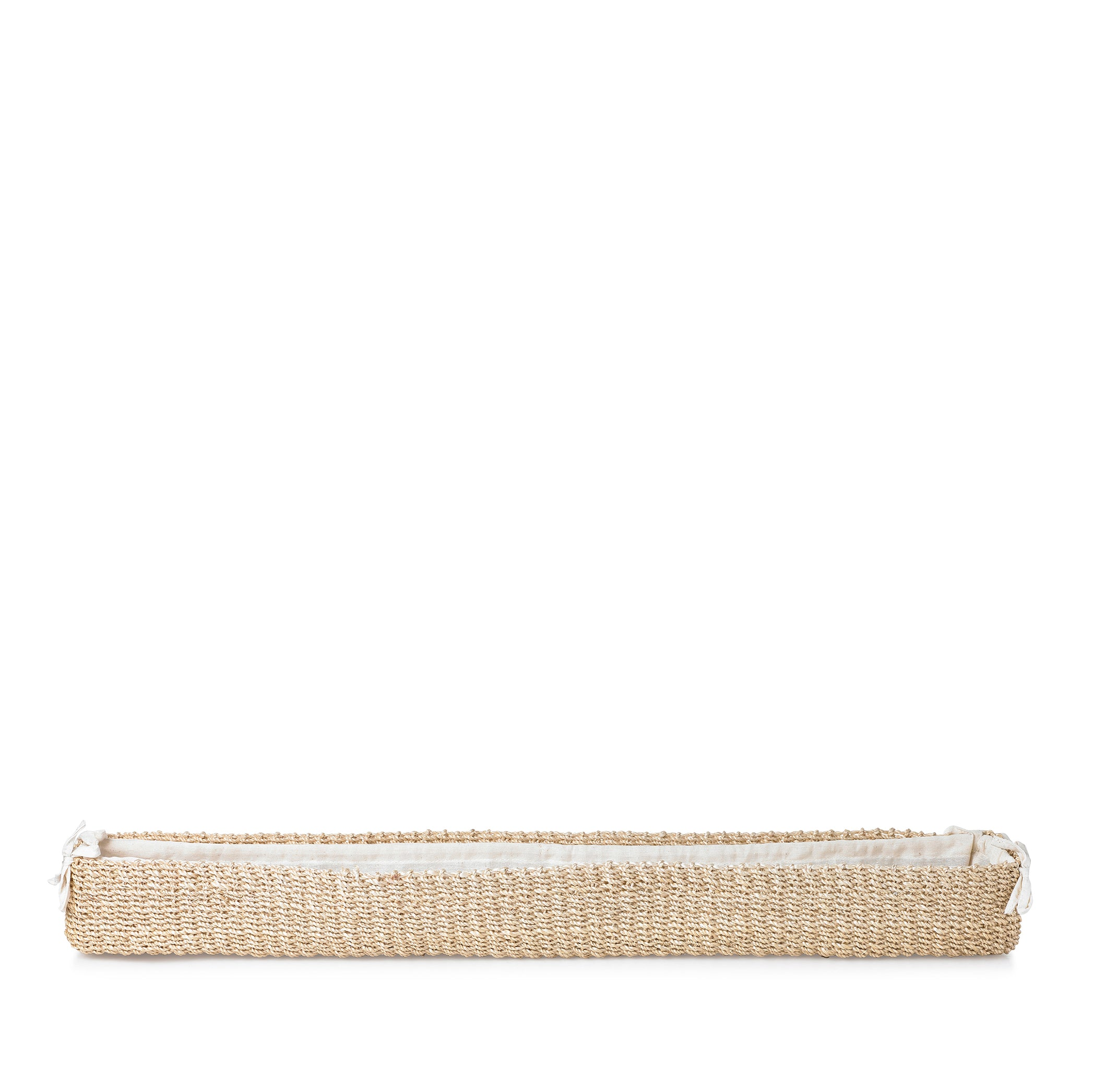 Abaca Woven Baguette Basket in Cream